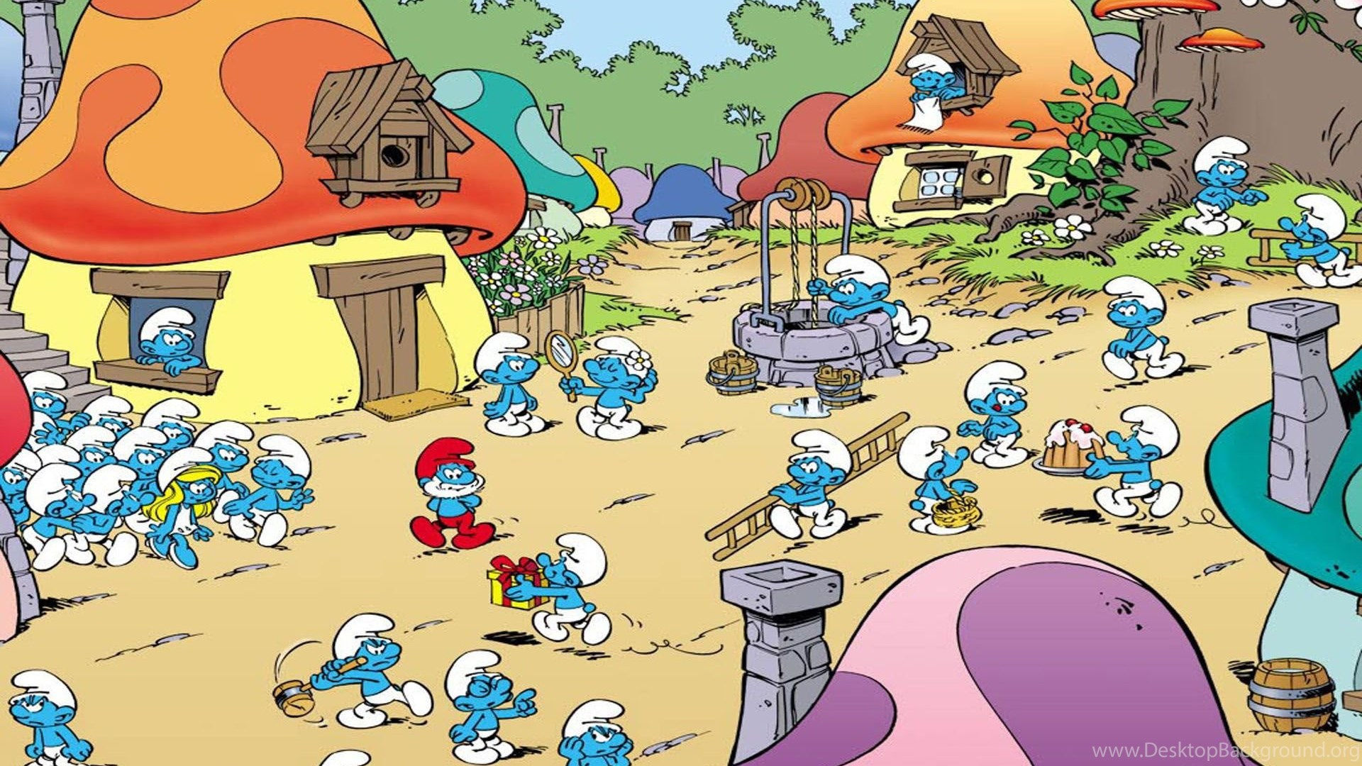 The Smurfs Cartoon Wallpapers Crazy Frankenstein Desktop ...