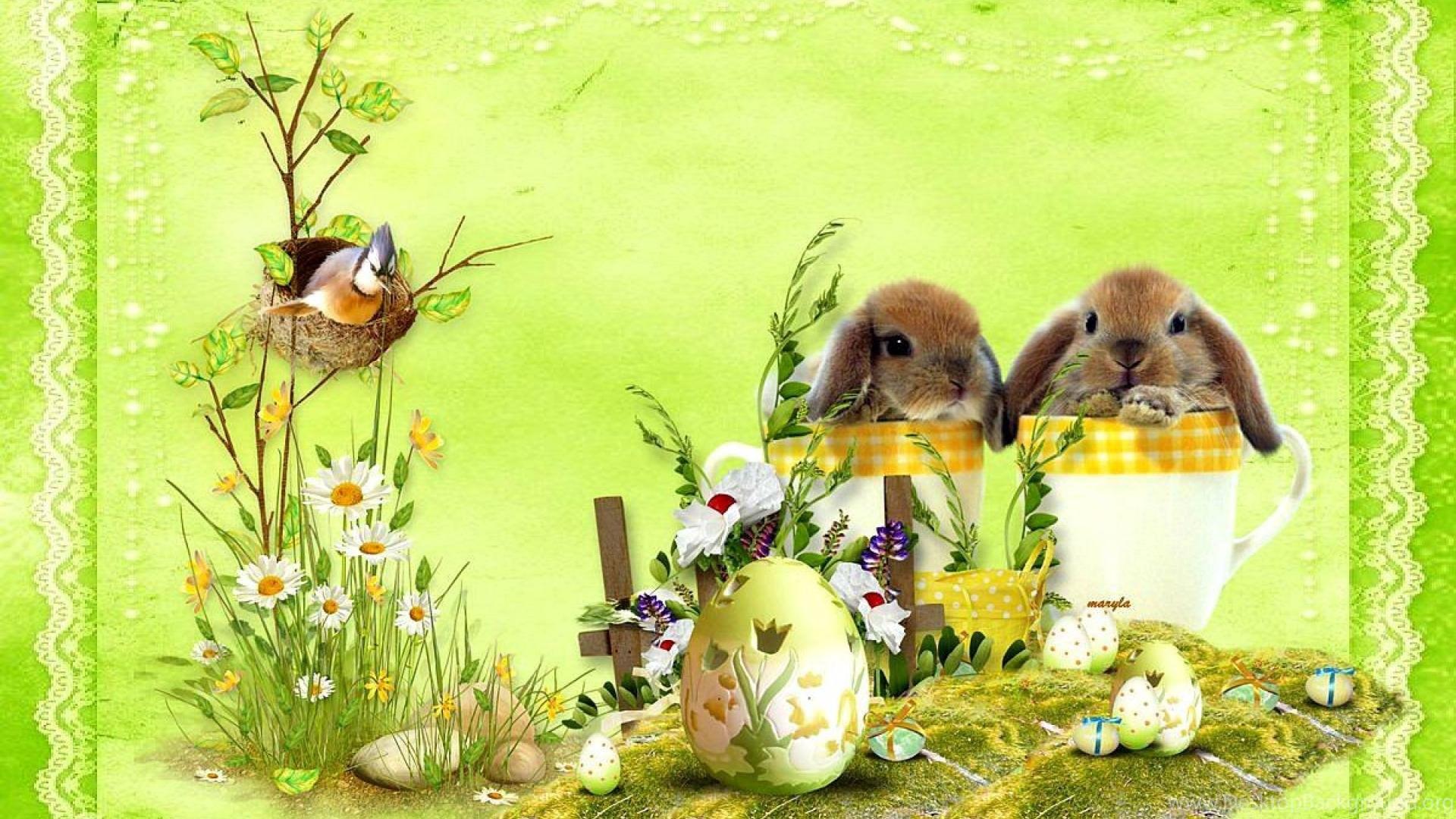 Happy Easter Bunny Wallpaper Desktop Background