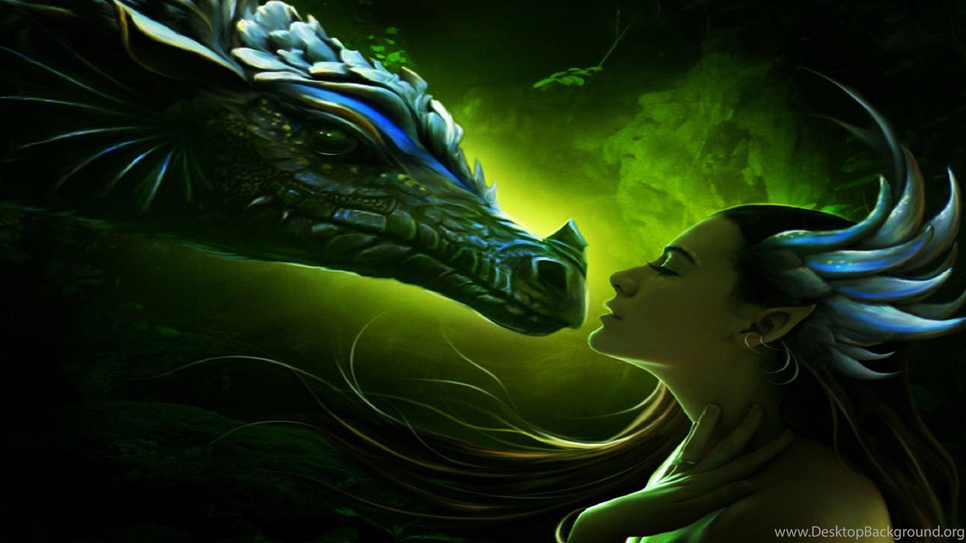Green Dragon Desktop Background