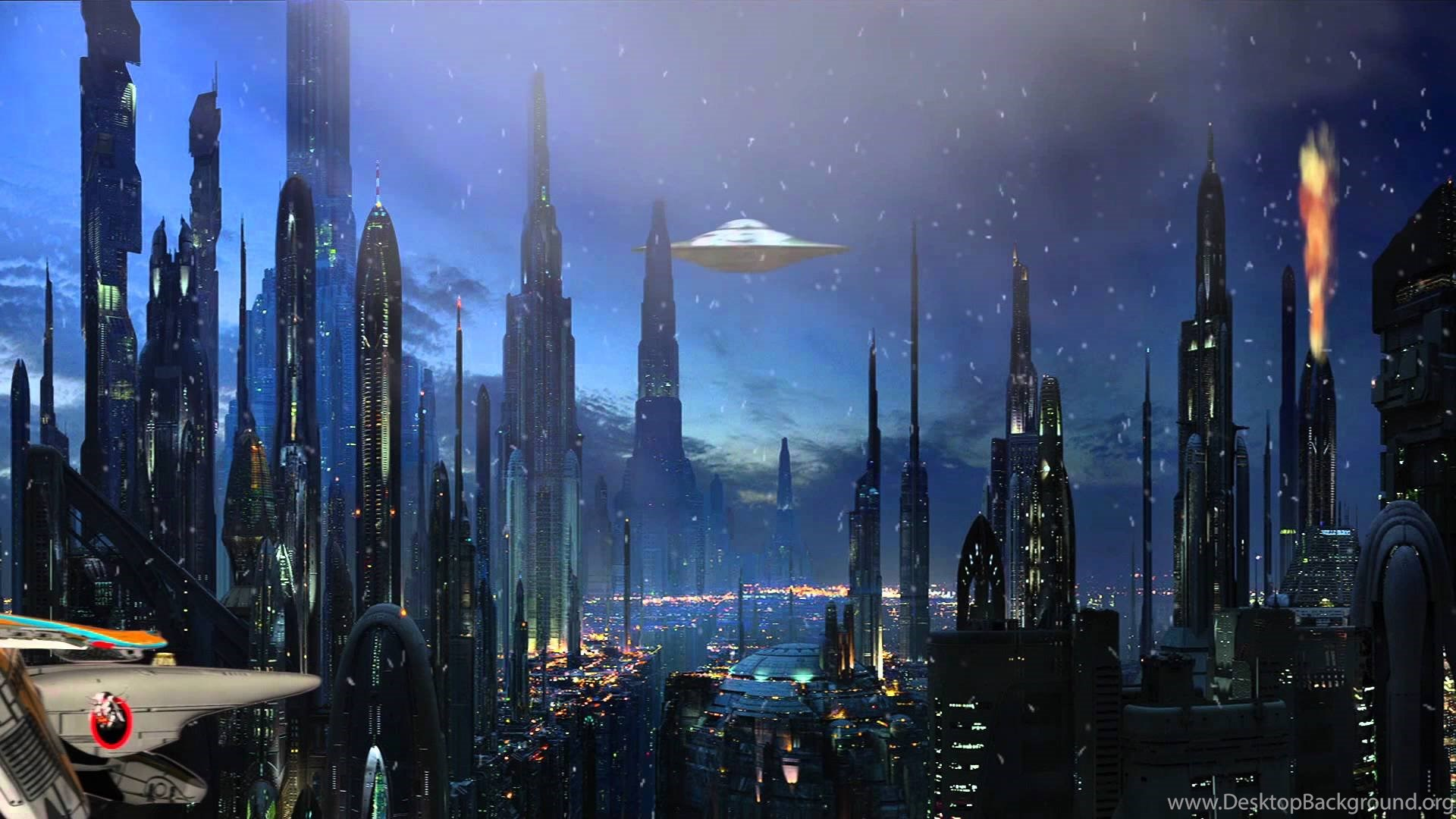 Space City Animation Youtube Desktop Background