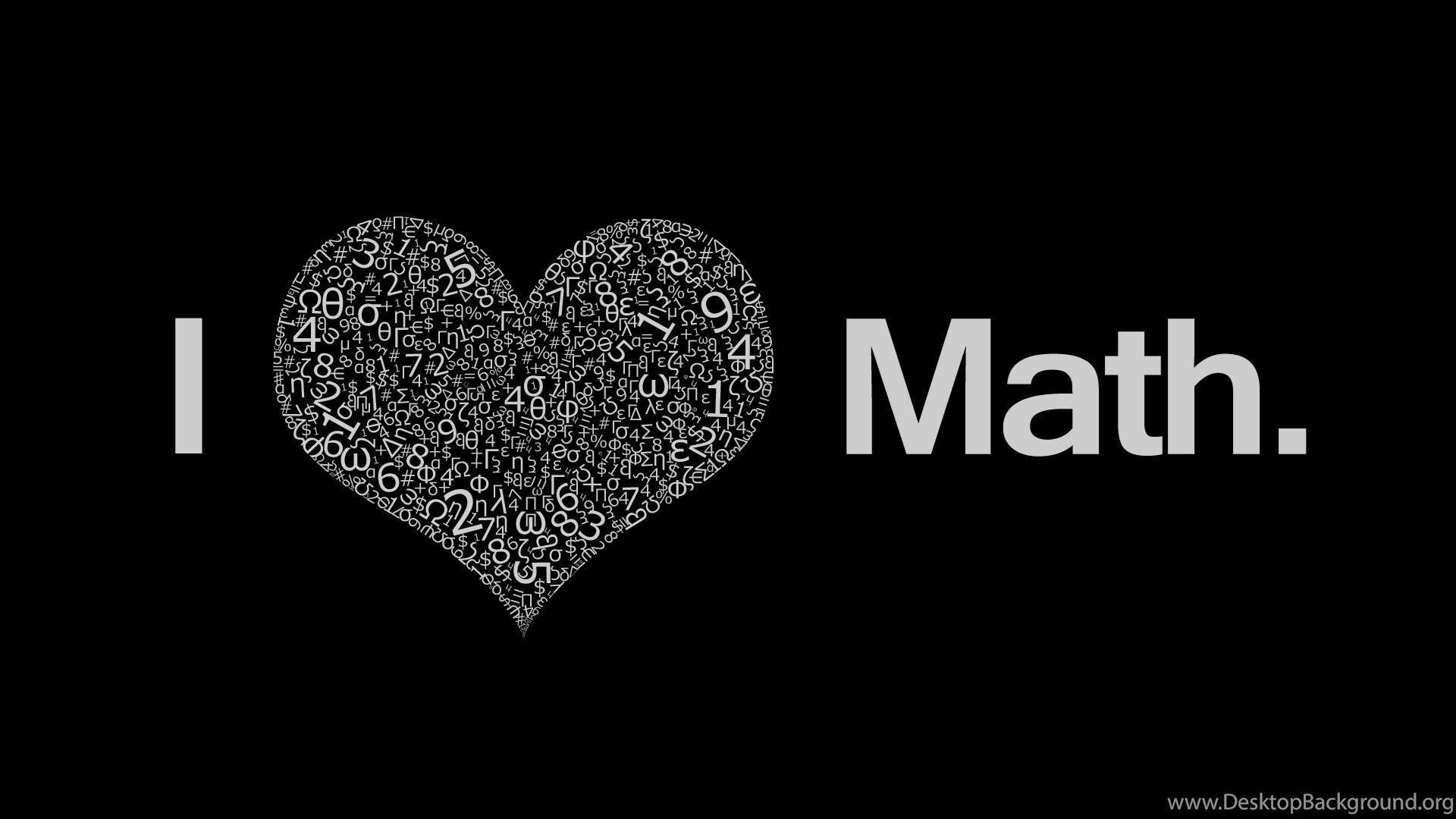 I Love Math Wallpapers Desktop Background