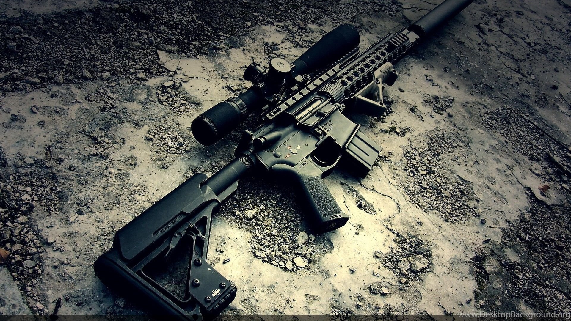 M4a1 Gun With Sniper 4K Or HD Wallpapers For Your PC, Mac Or