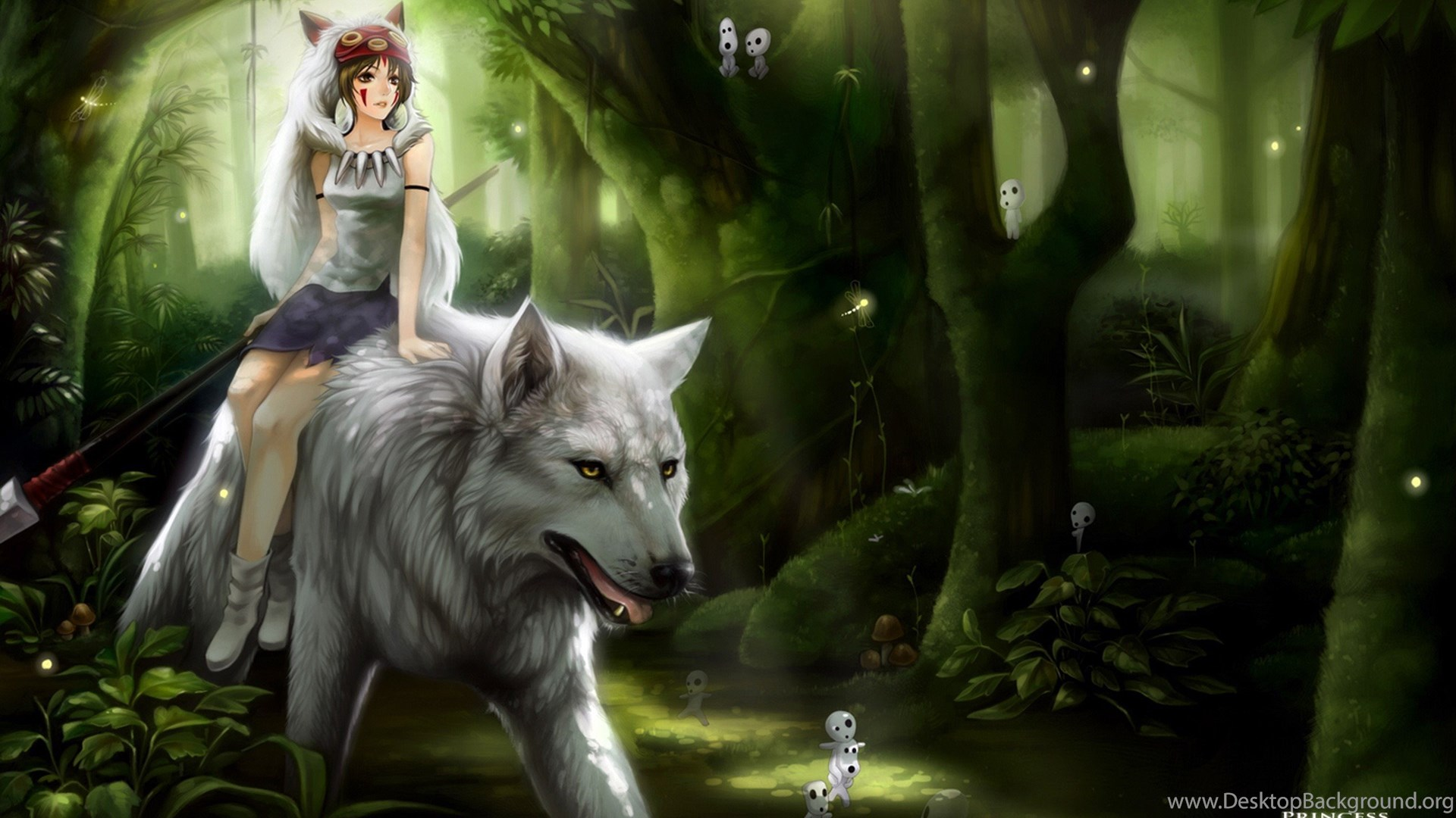 Little Red Riding Hood On The Wolf Anime Wallpapers And Images Desktop Background