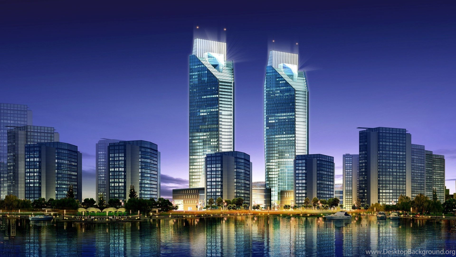 Modern Architecture Skyscrapers Cool Wallpapers Desktop Background