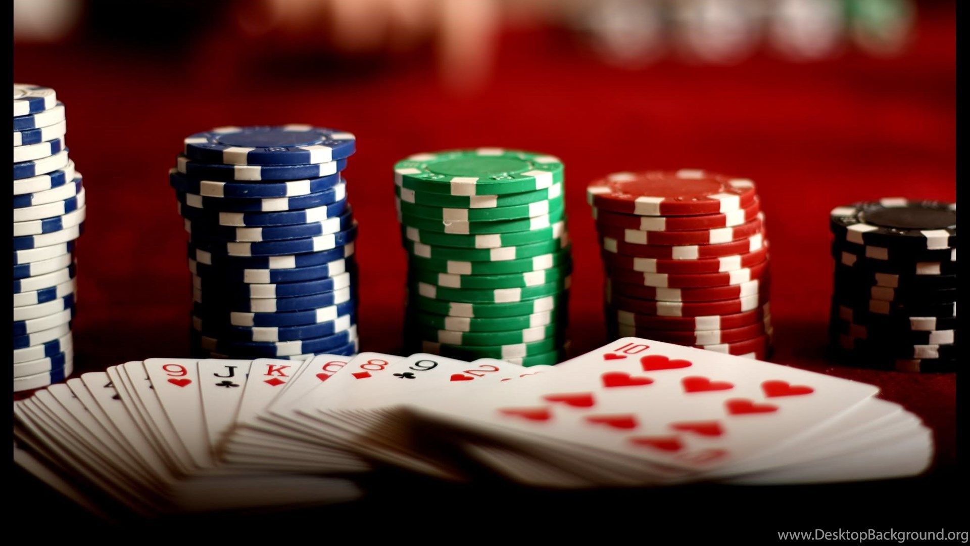 Poker Cards And Chips Wallpapers Image Desktop Background