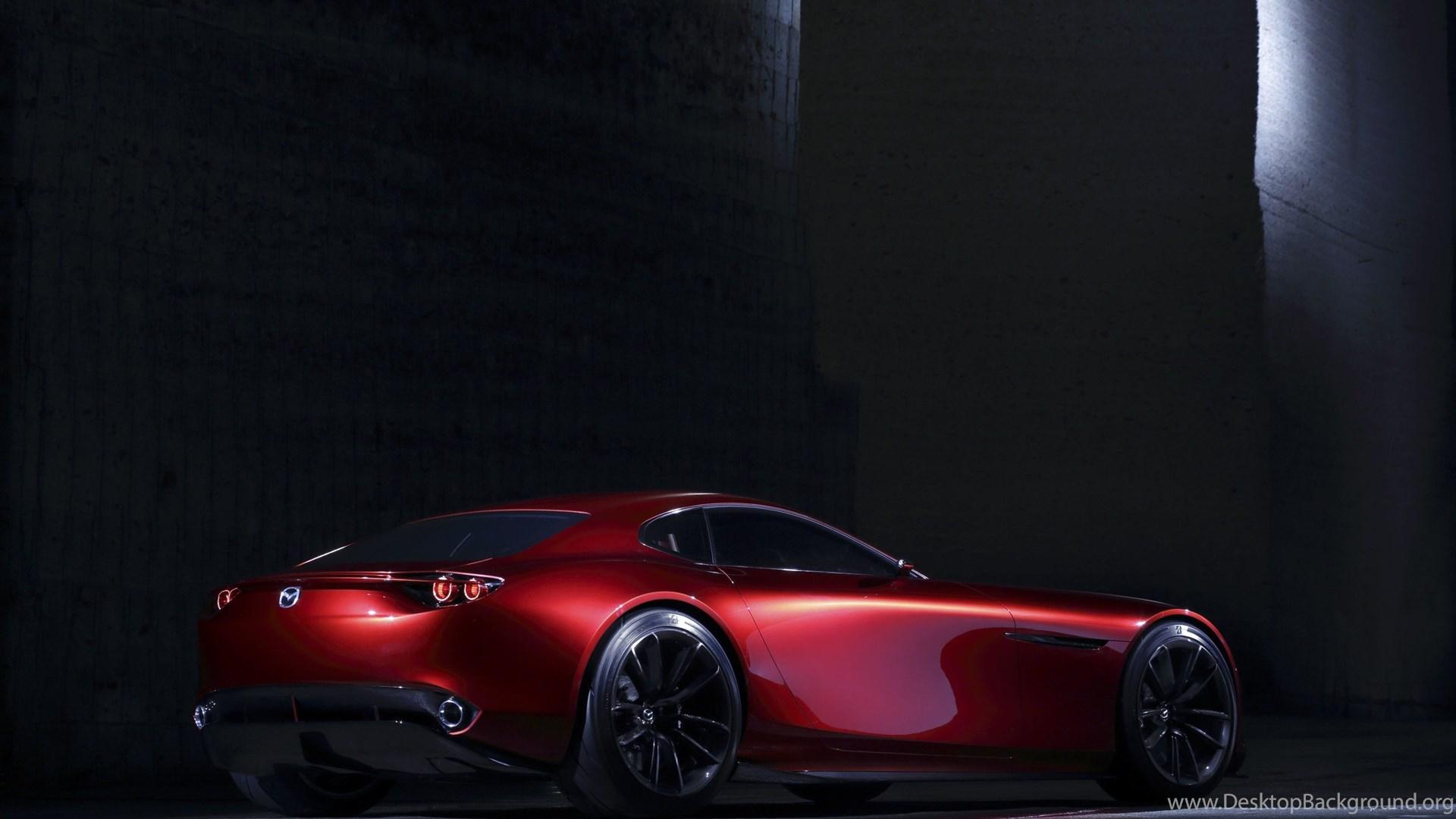 спортивный желтый автомобиль Mazda RX-Vision концепт  № 727213  скачать