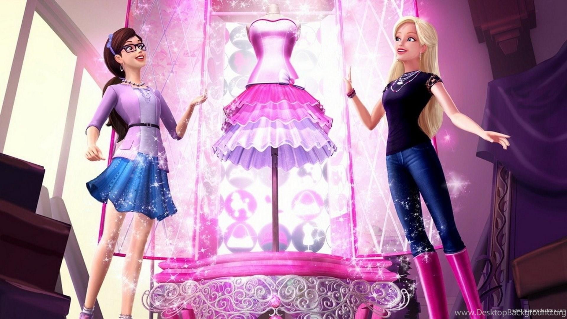 Barbie Wallpaper Hd Desktop Wallpapers Wallpaper Barbie Bergerak