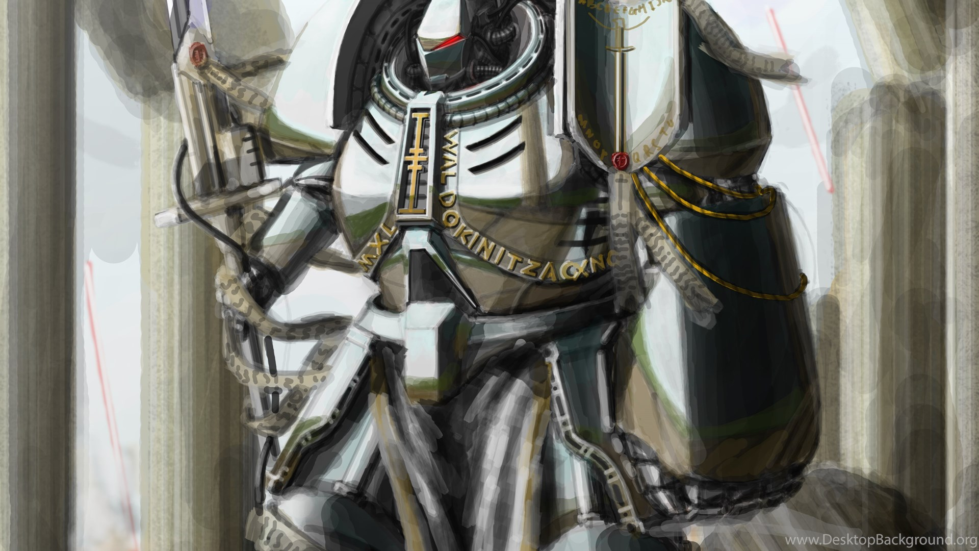 Grey Knight By Hammk On Deviantart Desktop Background