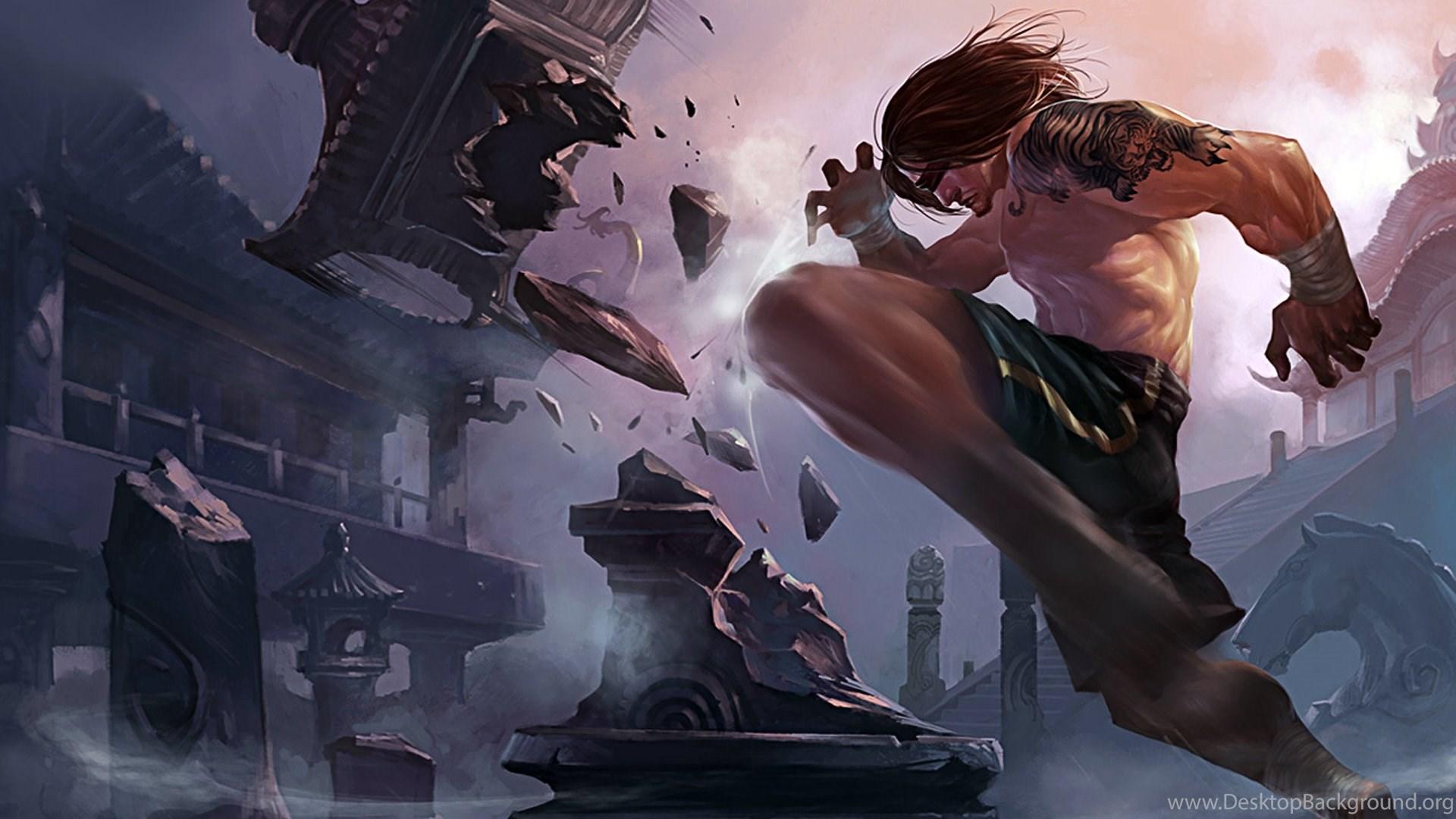 Blind Monk Lee Sin Fan Art League Of Legends Wallpapers Desktop