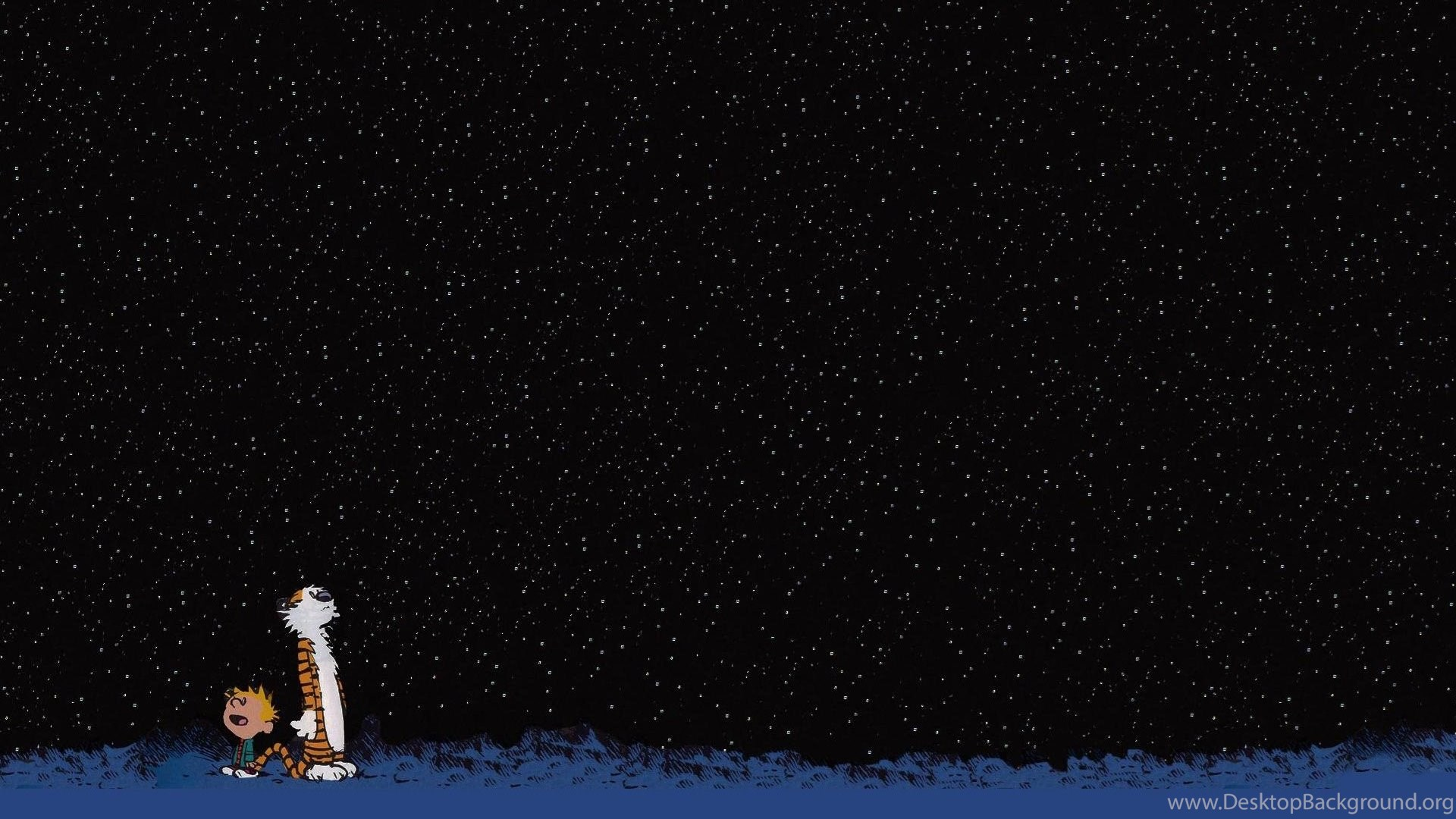 Download Wallpapers Download Stars Calvin And Hobbes 3840x1080