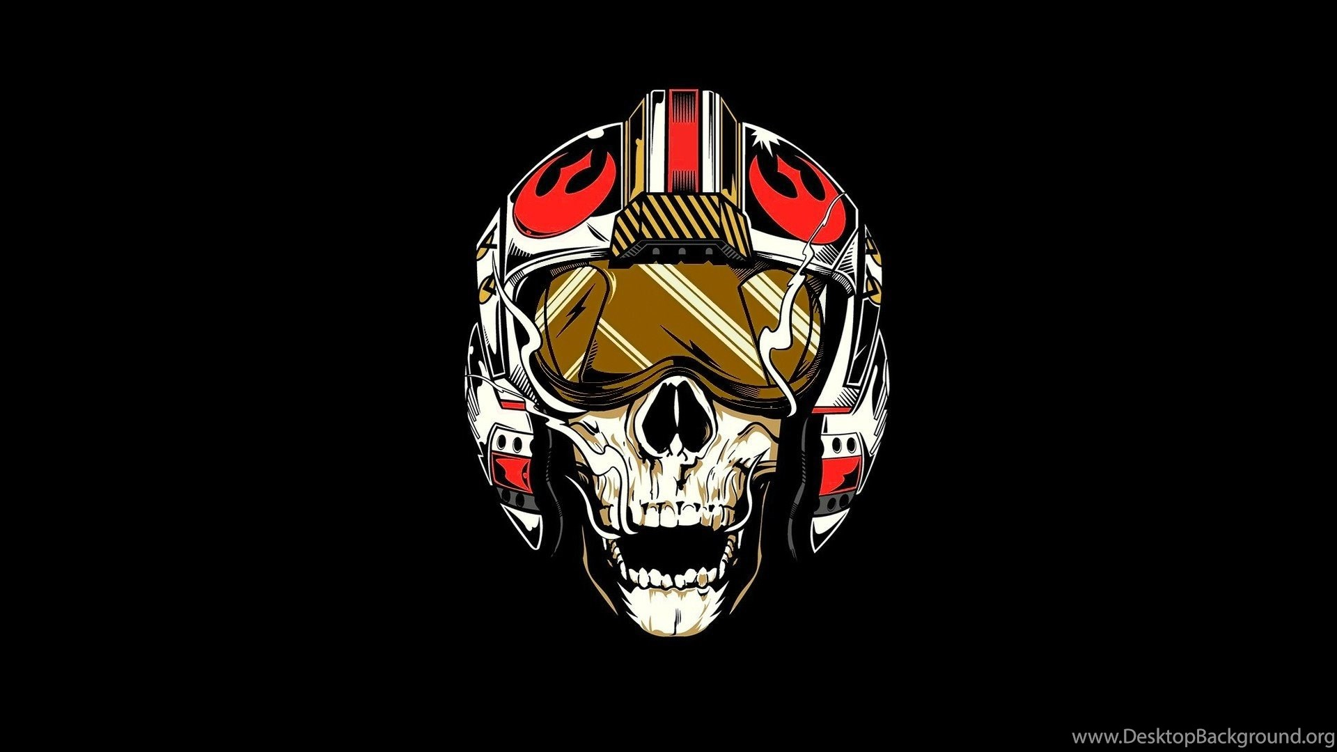Star Wars Rebel Alliance Pilot Skull Wallpapers Hd Desktop Desktop Background