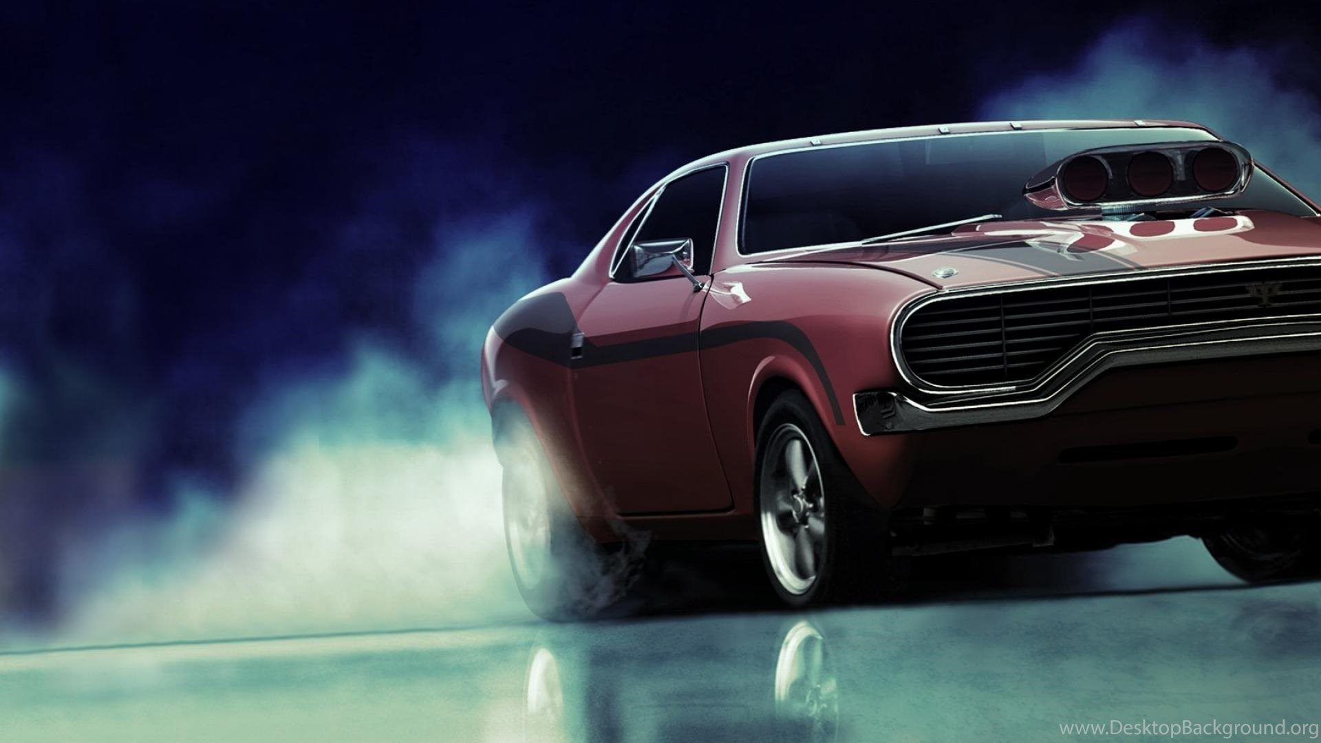 Cars Burnout Supercharger American Muscle Car Wallpapers ...