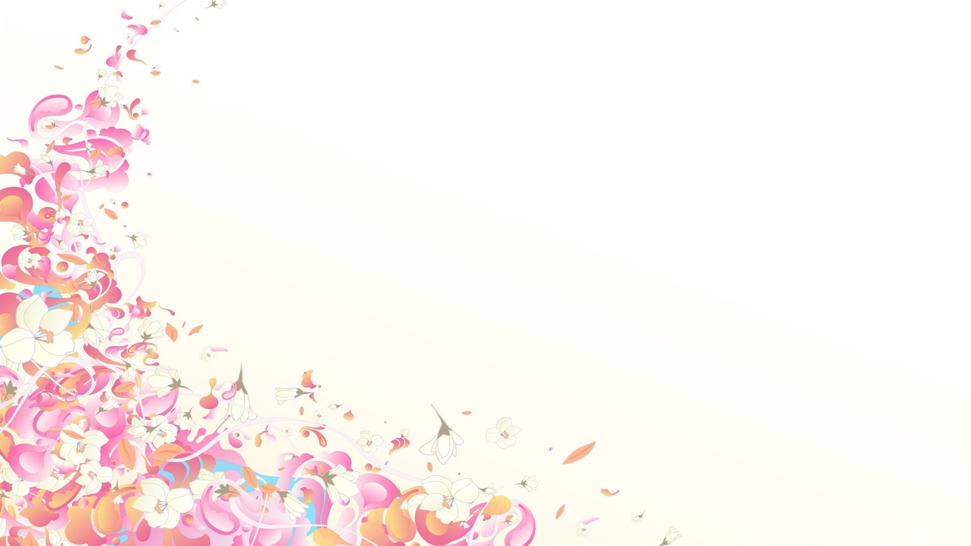 Pink And White Abstract Wallpapers Desktop Background