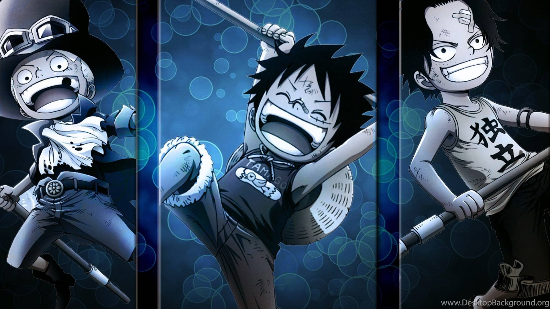 Sabo Luffy And Ace One Piece Wallpapers Desktop Background