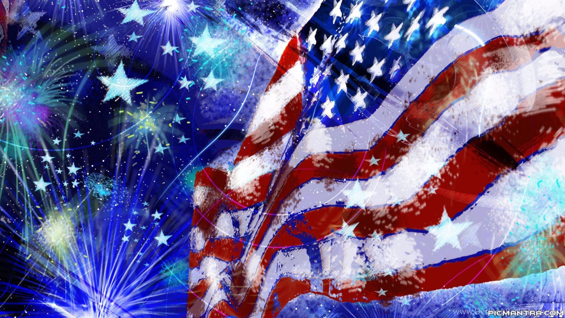 Red White And Blue 4th Of July 4k Wallpapers Desktop Background