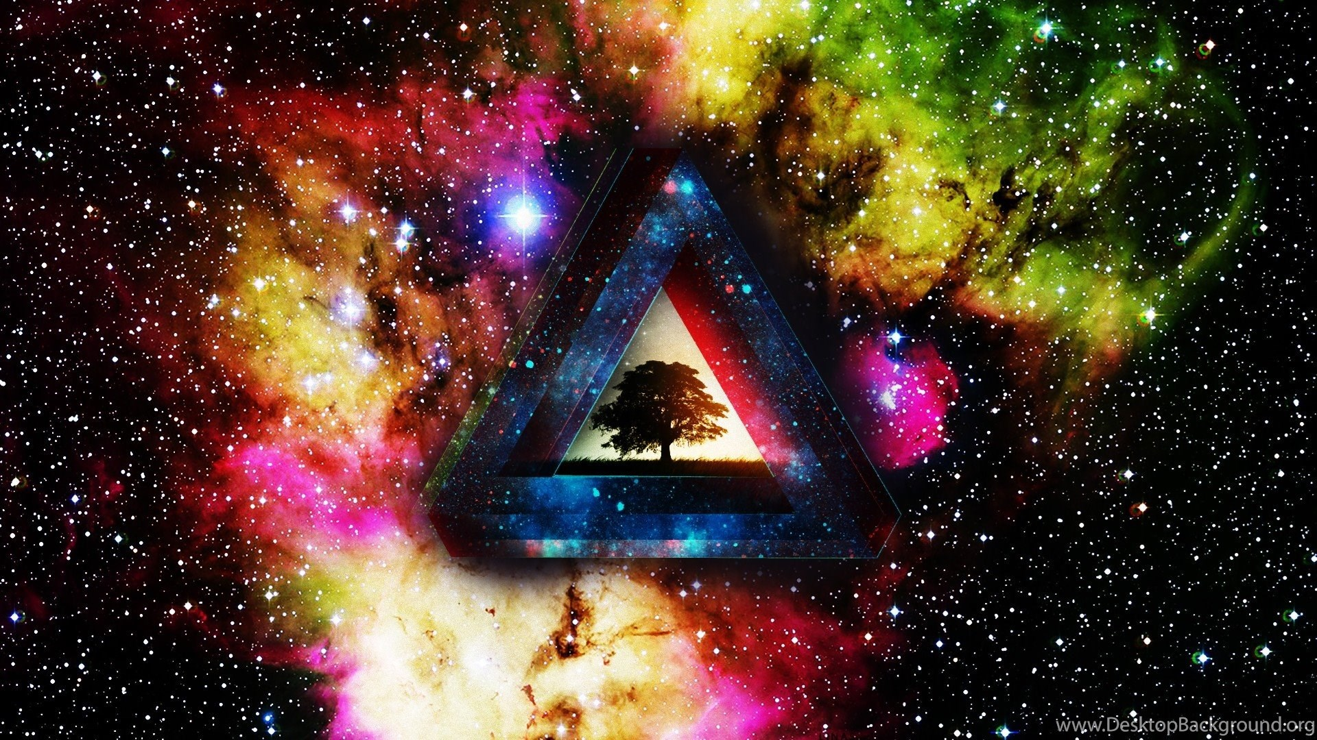 Abstract Trippy Colorful Triangle Wallpapers Lux Wallpapers