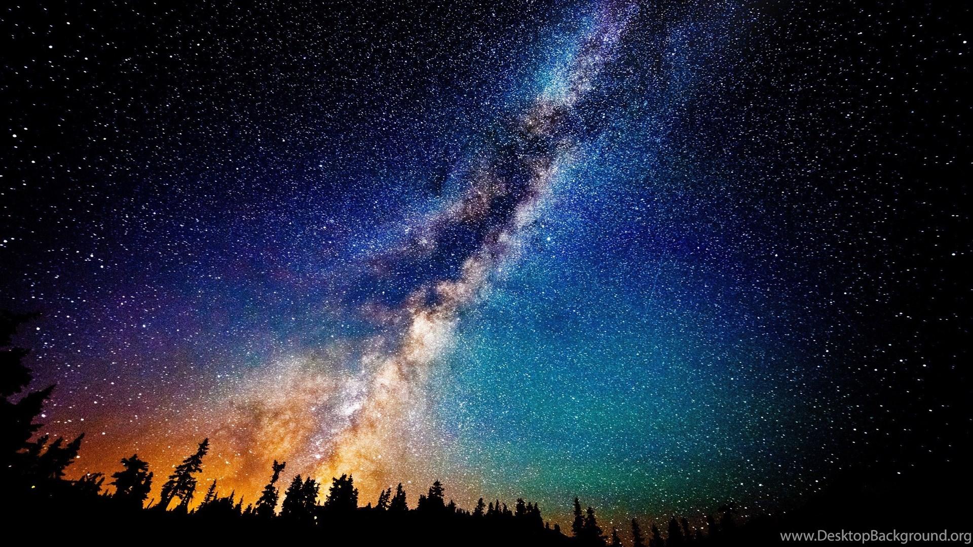 Milky Way Galaxy And The Andromeda Galaxy Wallpaper