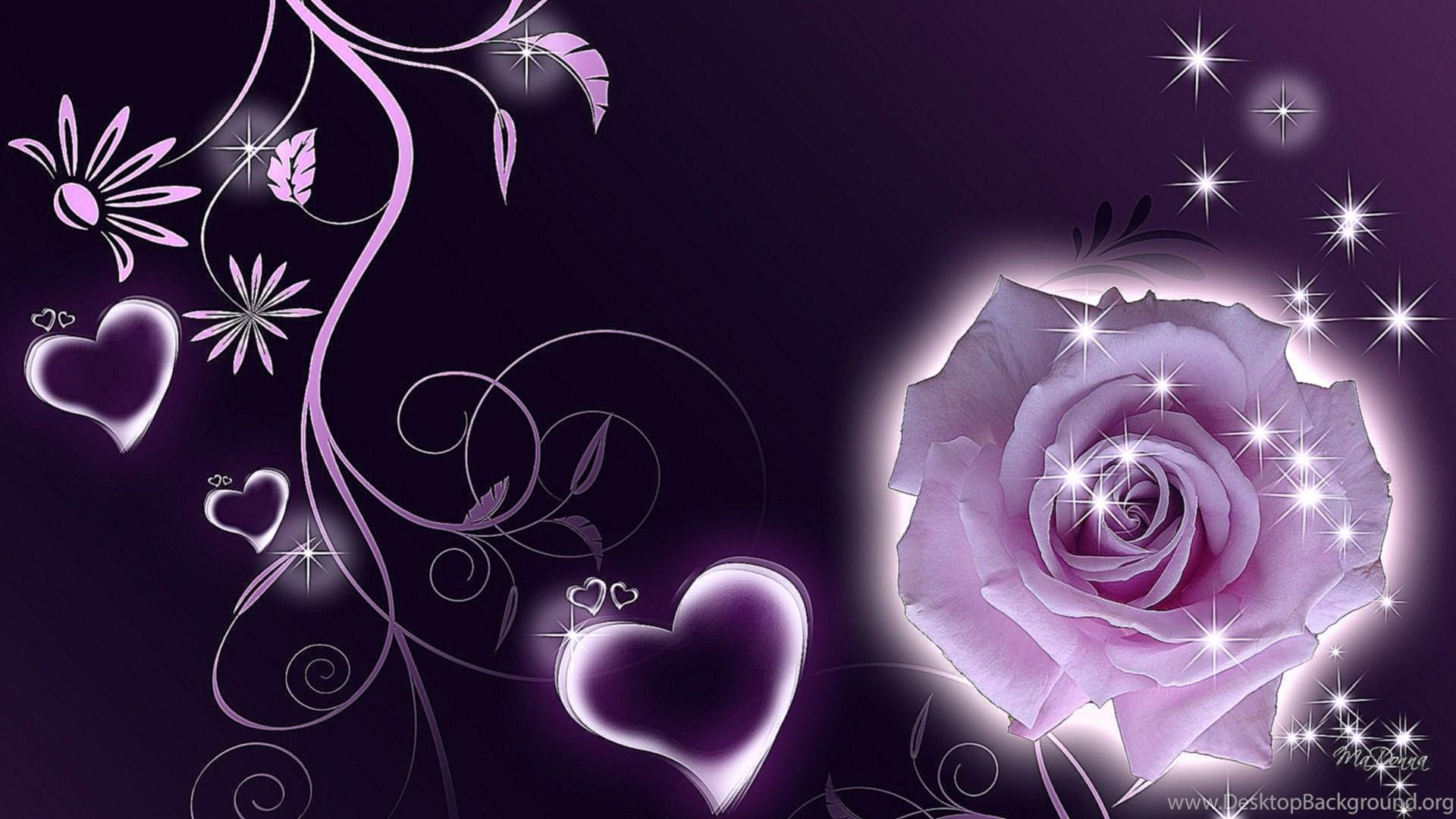 Purple And Black Hearts Wallpaper: Purple Hearts Wallpapers 3 Items Desktop Background