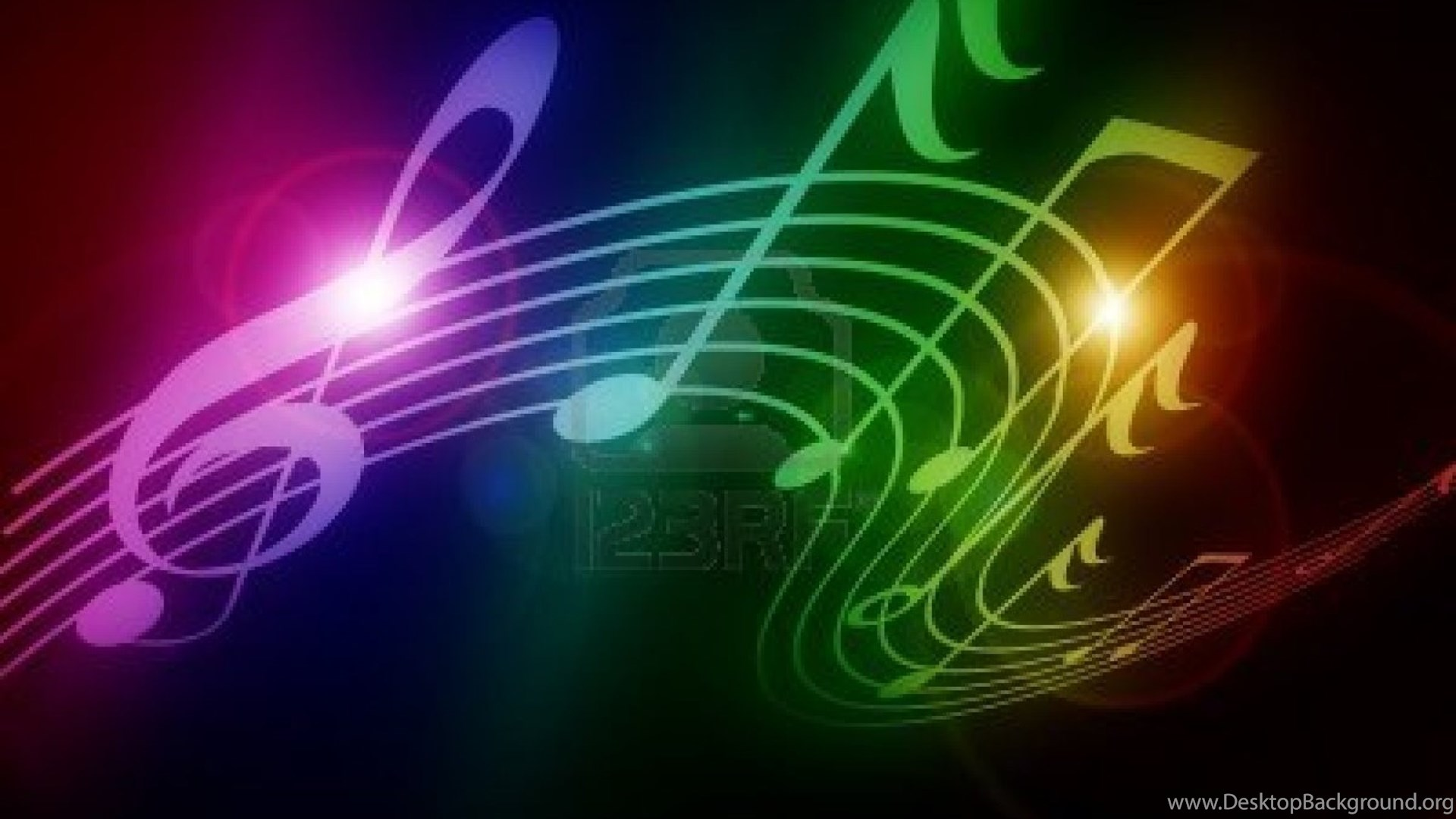 Hd Wallpapers 1080p Music: Colorful Music Notes 13 1080p Hd Wallpapers Desktop Background