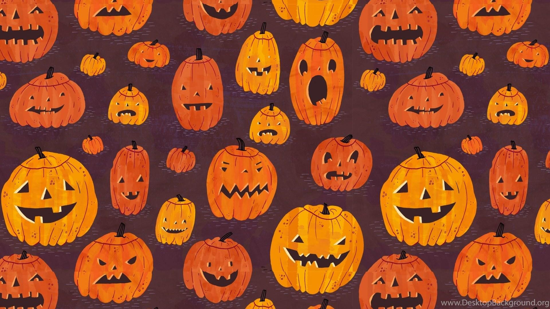 halloween pumpkins pattern hd desktop wallpapers : high definition