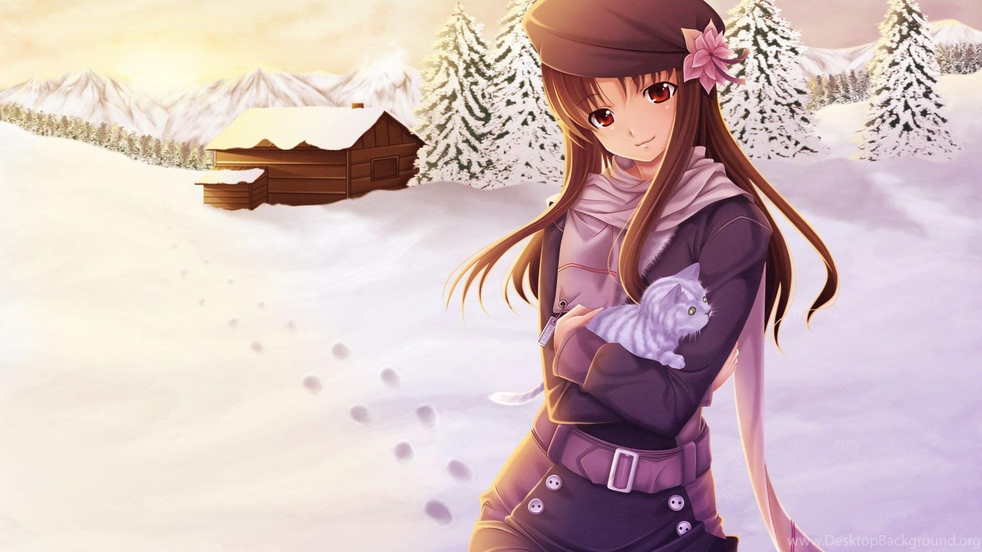 Wallpapers Korean Girl Anime Cute Sweet Winter Snow Hd 184012 8 Desktop Background