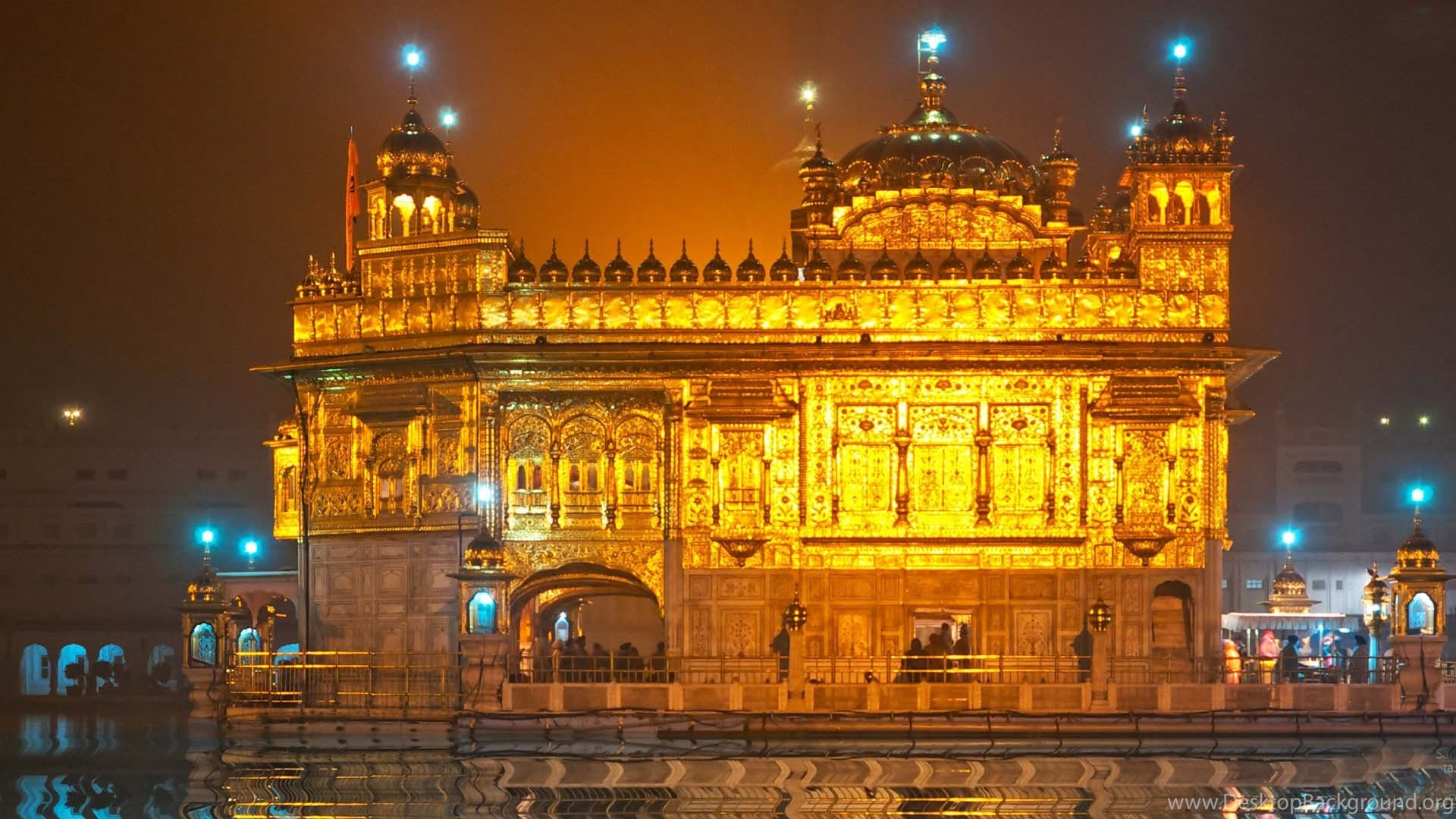wallpapers golden temple the at night amritsar skykline hd