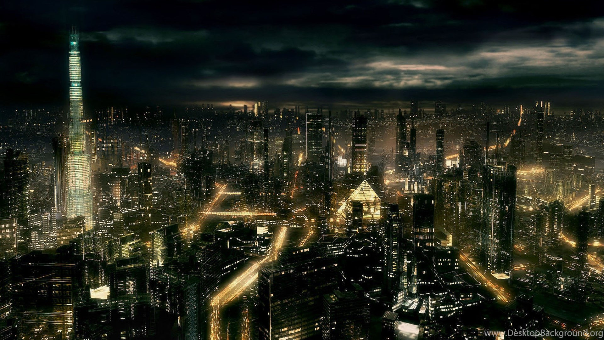 Wallpapers Nature Editing Cityscapes Buildings Night Landscape Hd ...
