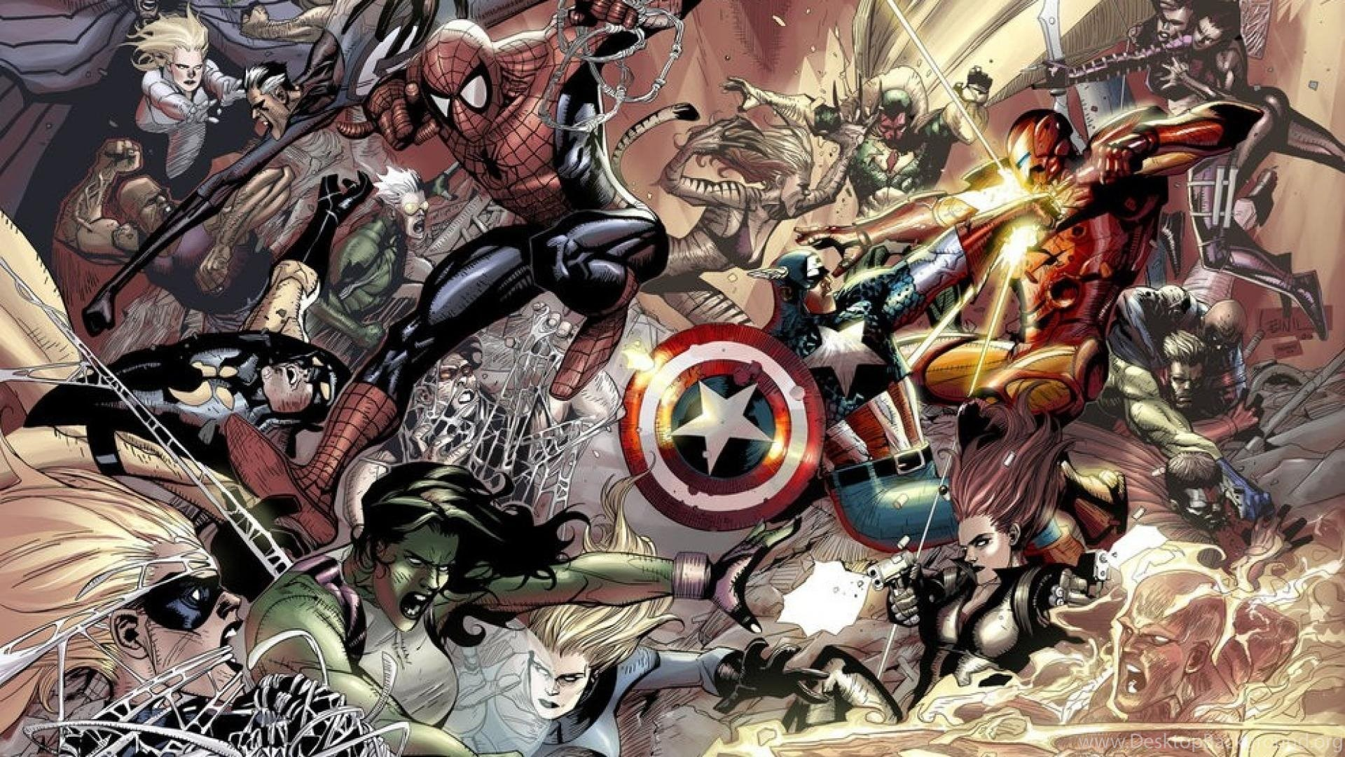 Beautiful Wallpaper Marvel Ipad Mini - 926426_iron-man-spider-man-captain-america-marvel-comics-wallpapers_1920x1080_h  2018_362613.jpg