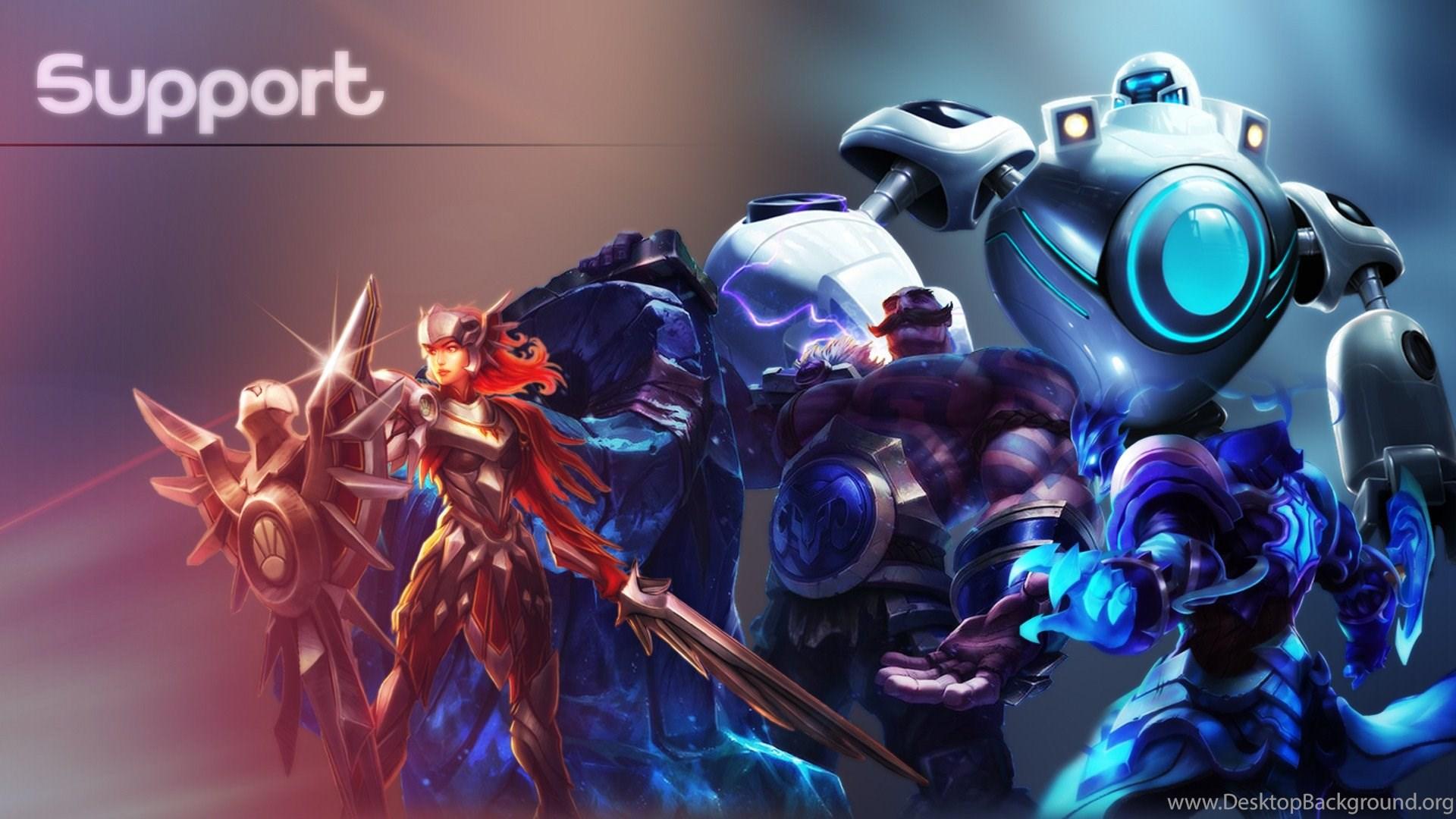 Support Fan Art League Of Legends Wallpapers Desktop Background
