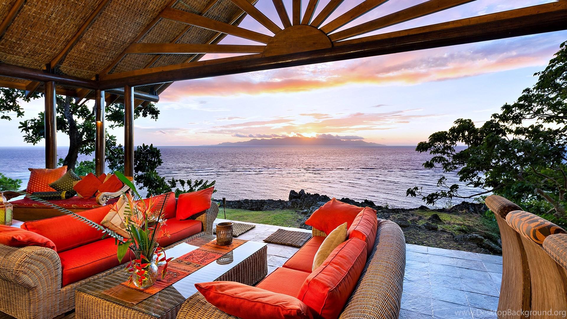 Beauty Design Happy House beach sunrise Living room ... Desktop ...