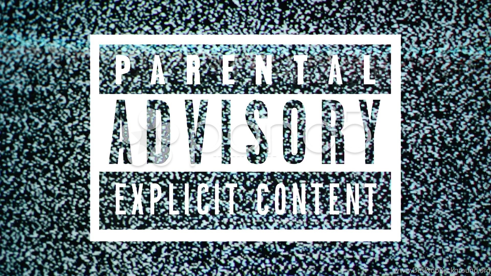 Parental Advisory Label Explicit Content On Tv Noise