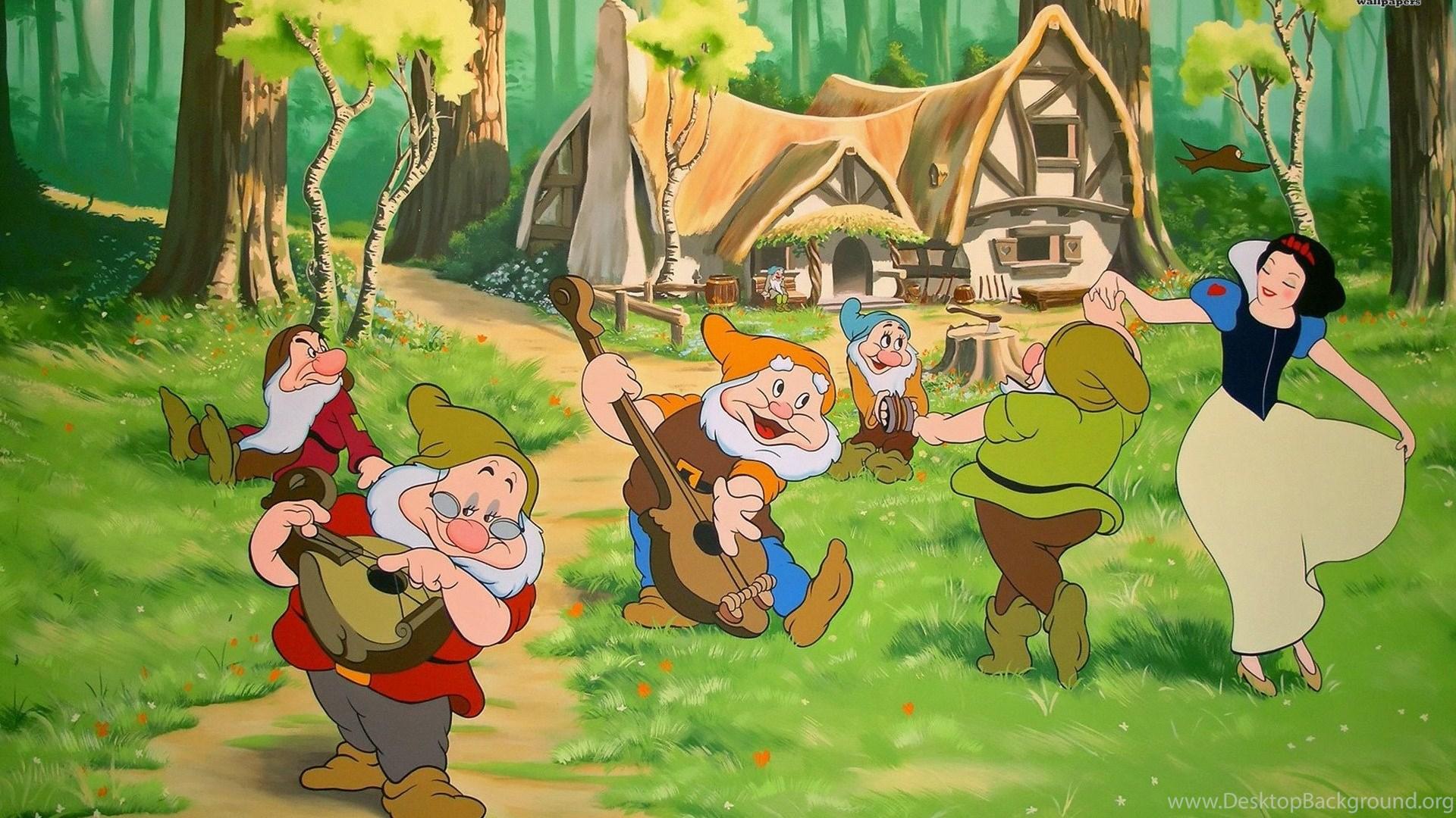 snow white and the seven dwarfs names wallpaper desktop background