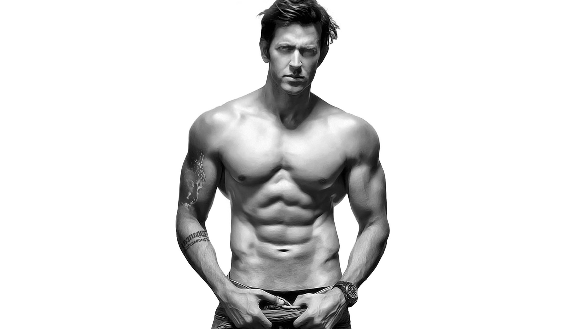 Six Pack Abs Body Of Hrithik Roshan Without Shirt HD Photo ...