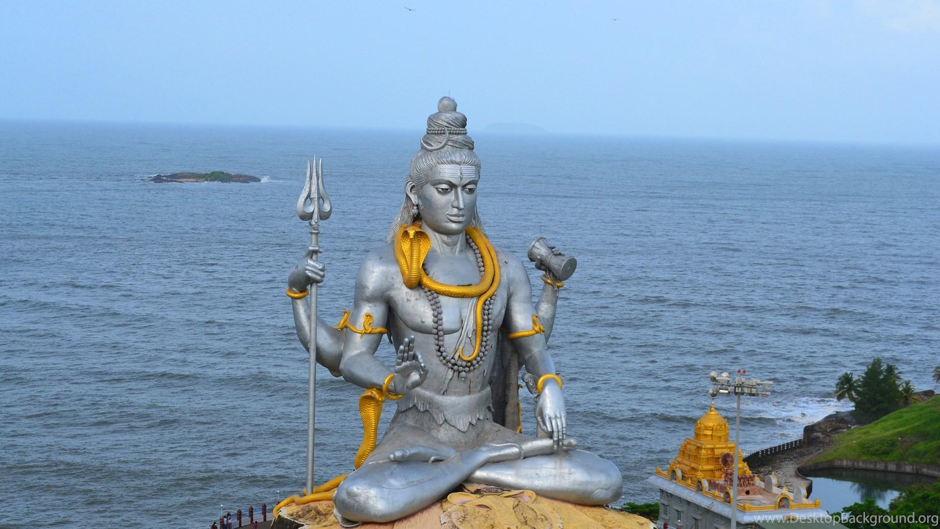 1366x768 Lord Shiva Desktop Background: Lord Shiva Murudeshwar Wallpapers Desktop Background