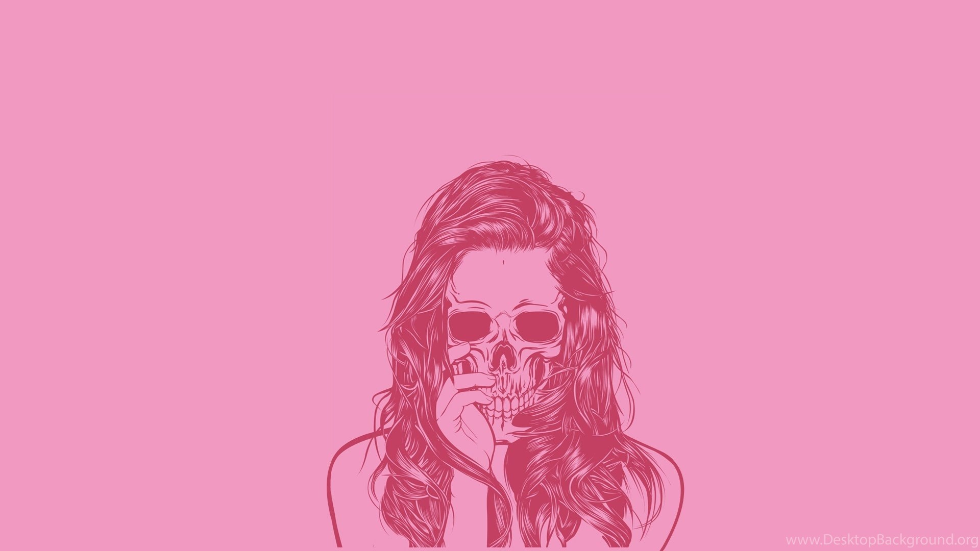 Pink And Black Skull Wallpapers Wallpapers Zone Desktop Background