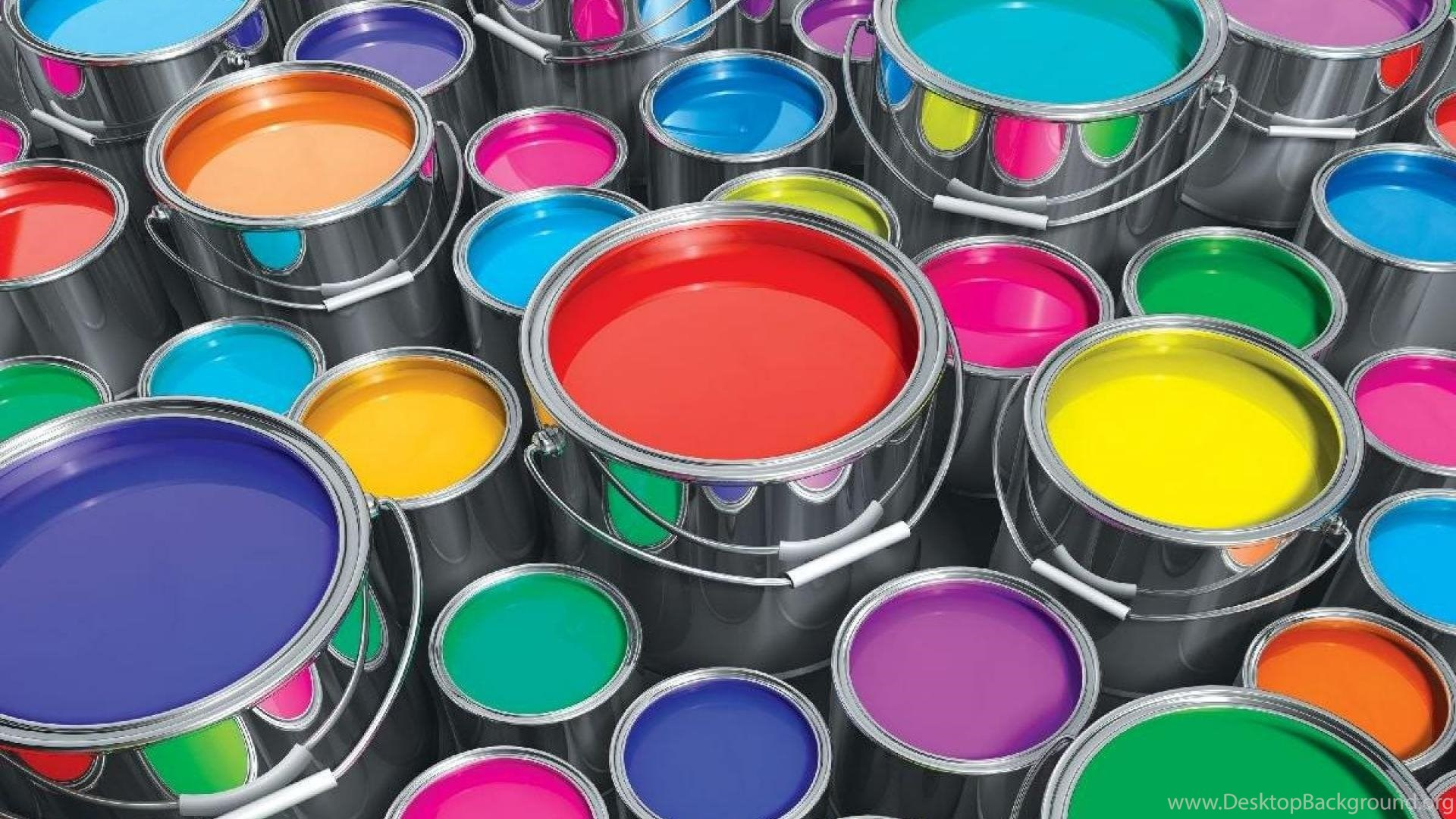 Color Paint Cans   Desktop Background