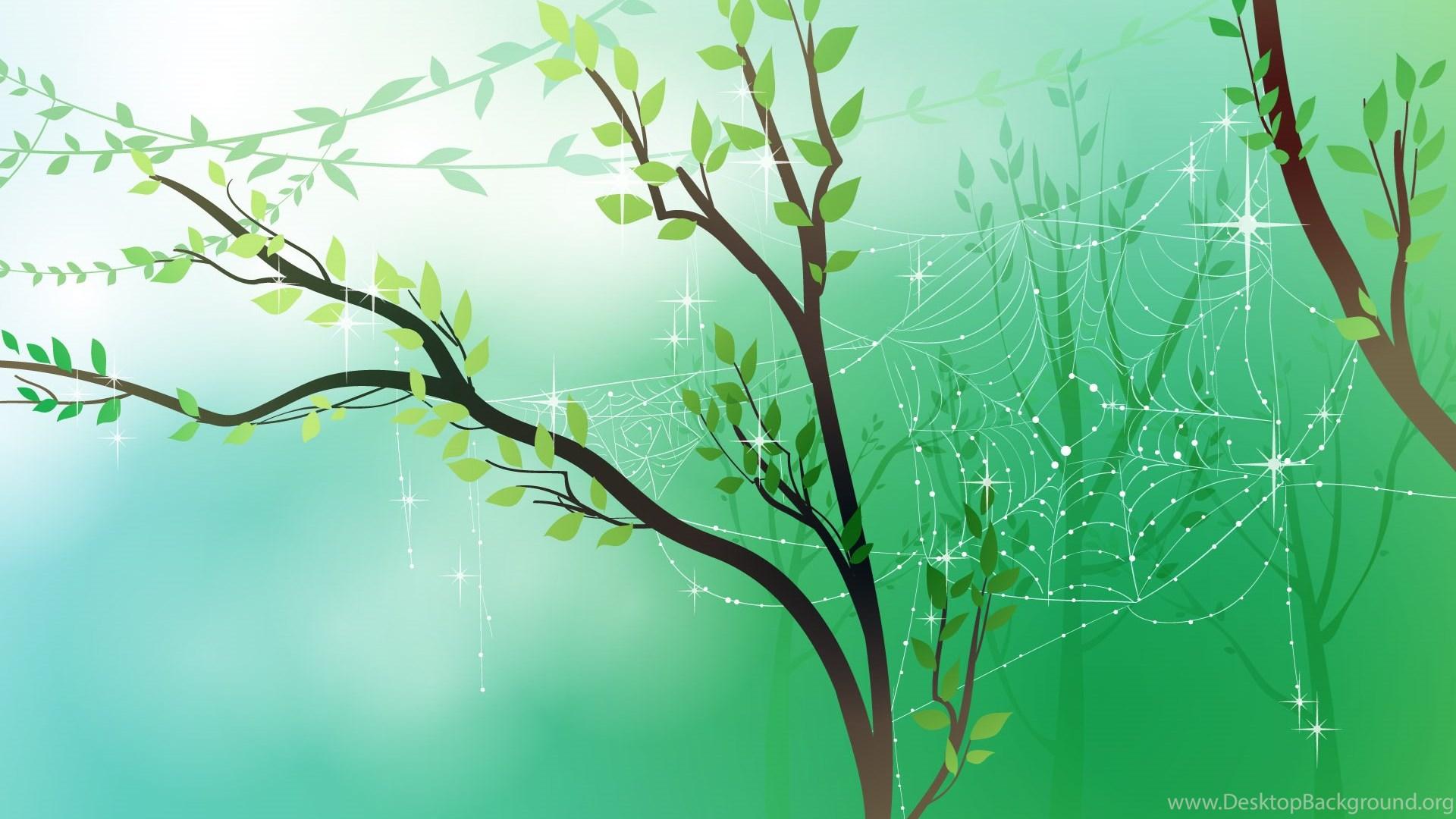 Spring Fresh Morning Wallpaper Scenery Vector Desktop Background