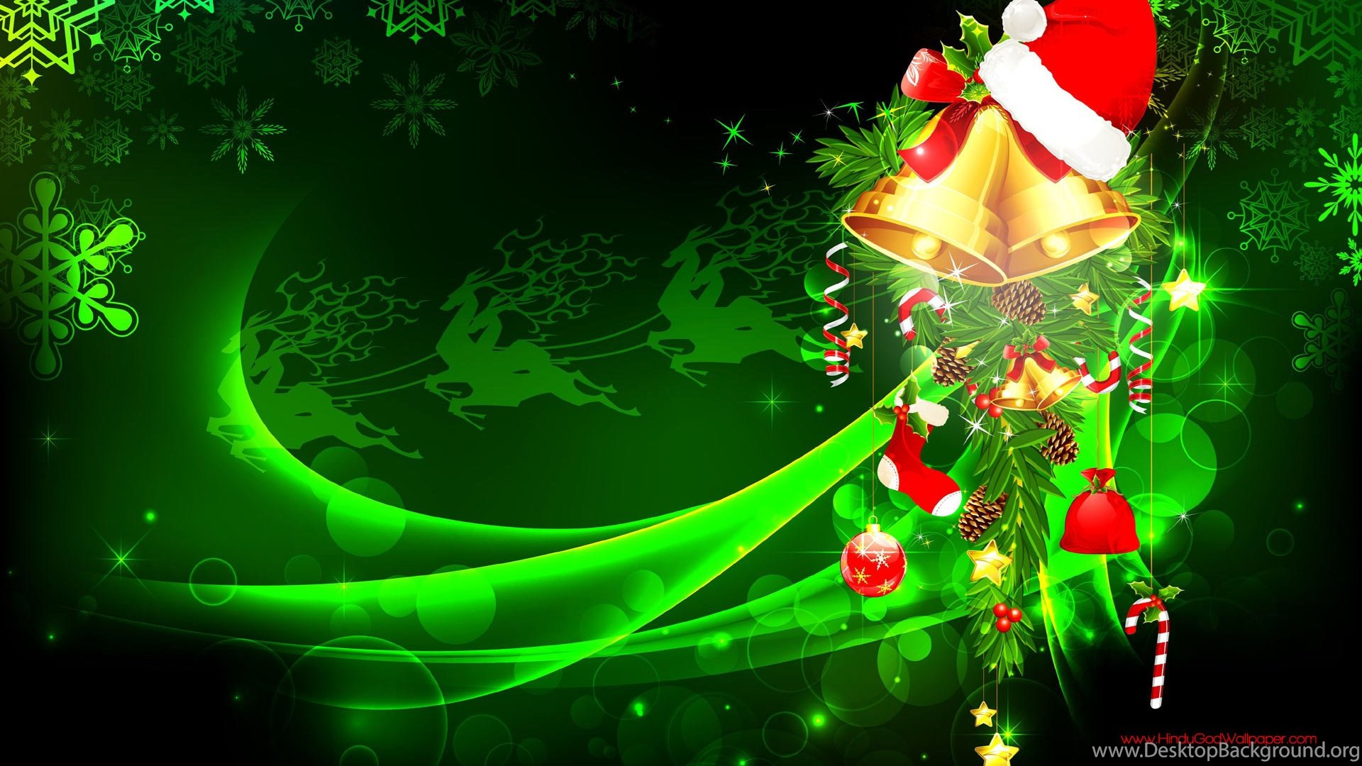 green christmas wallpapers for desktop free download
