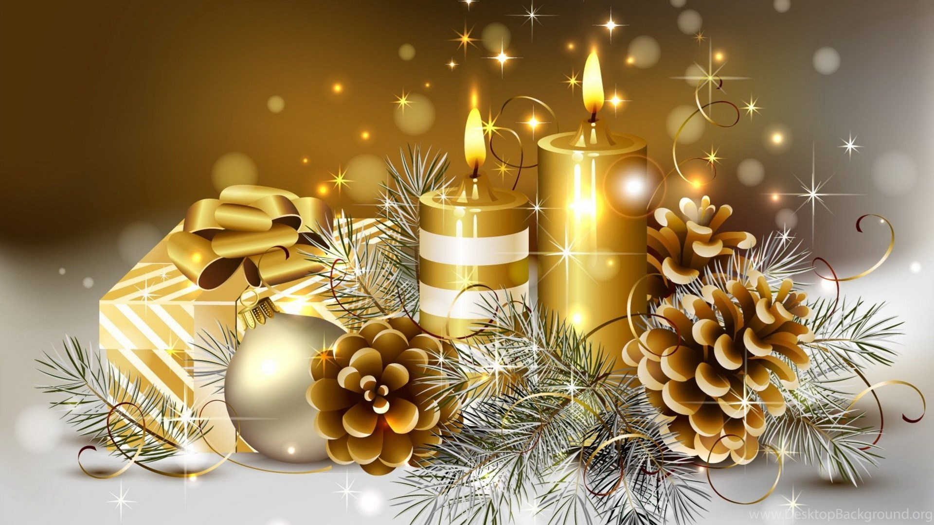 Free Christmas Candles Wallpapers Hd Wallpapers Desktop Background