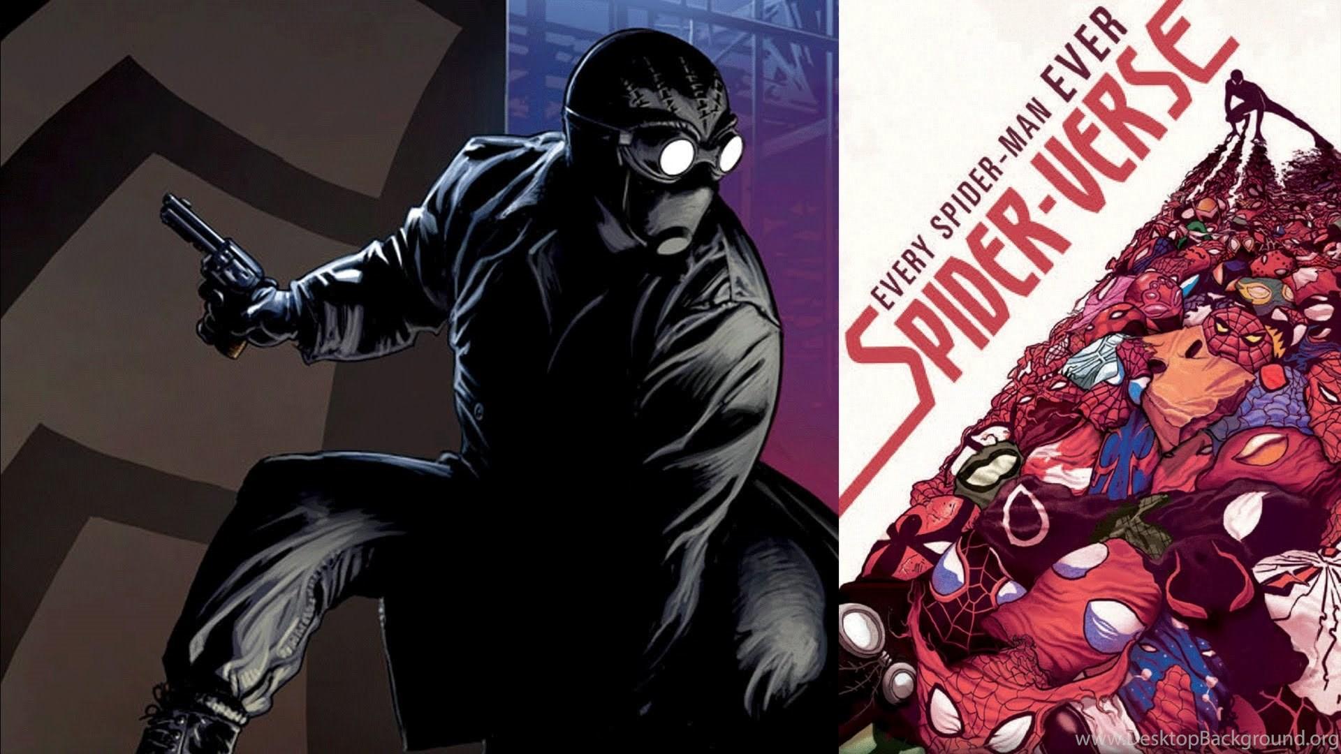 Edge Of Spider Verse Spider Man Noir Desktop Background