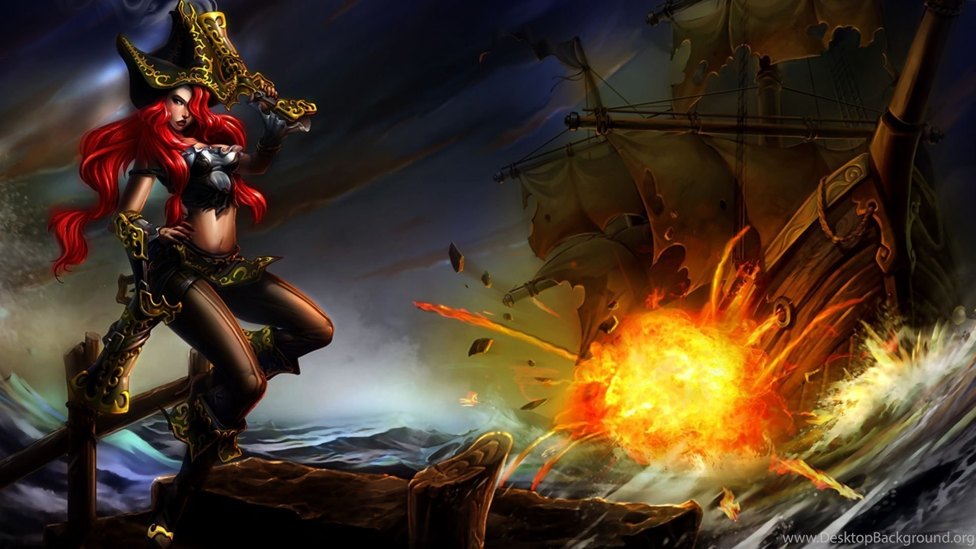 Miss Fortune League Of Legends Wallpapers Walldevil Best Free
