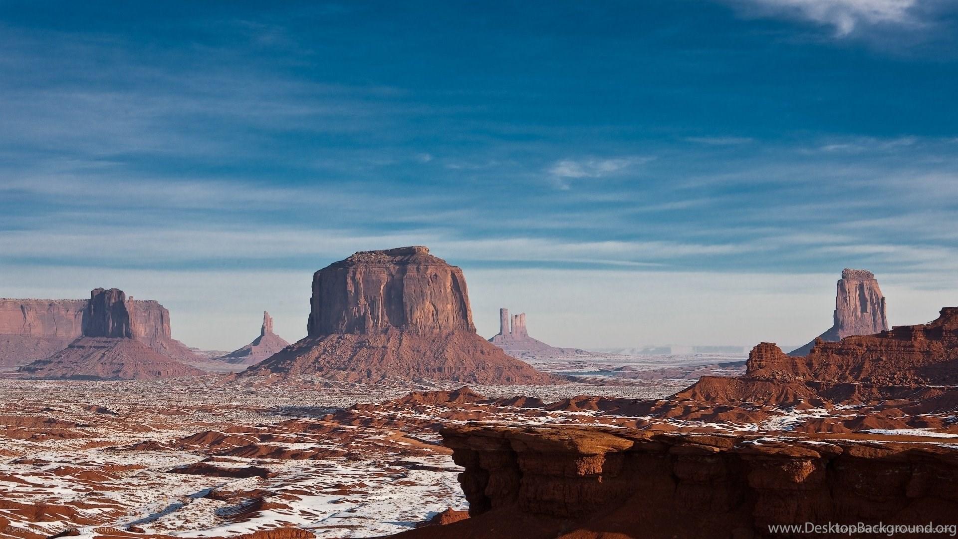 Monument Valley Snow Wallpaper. Desktop Background