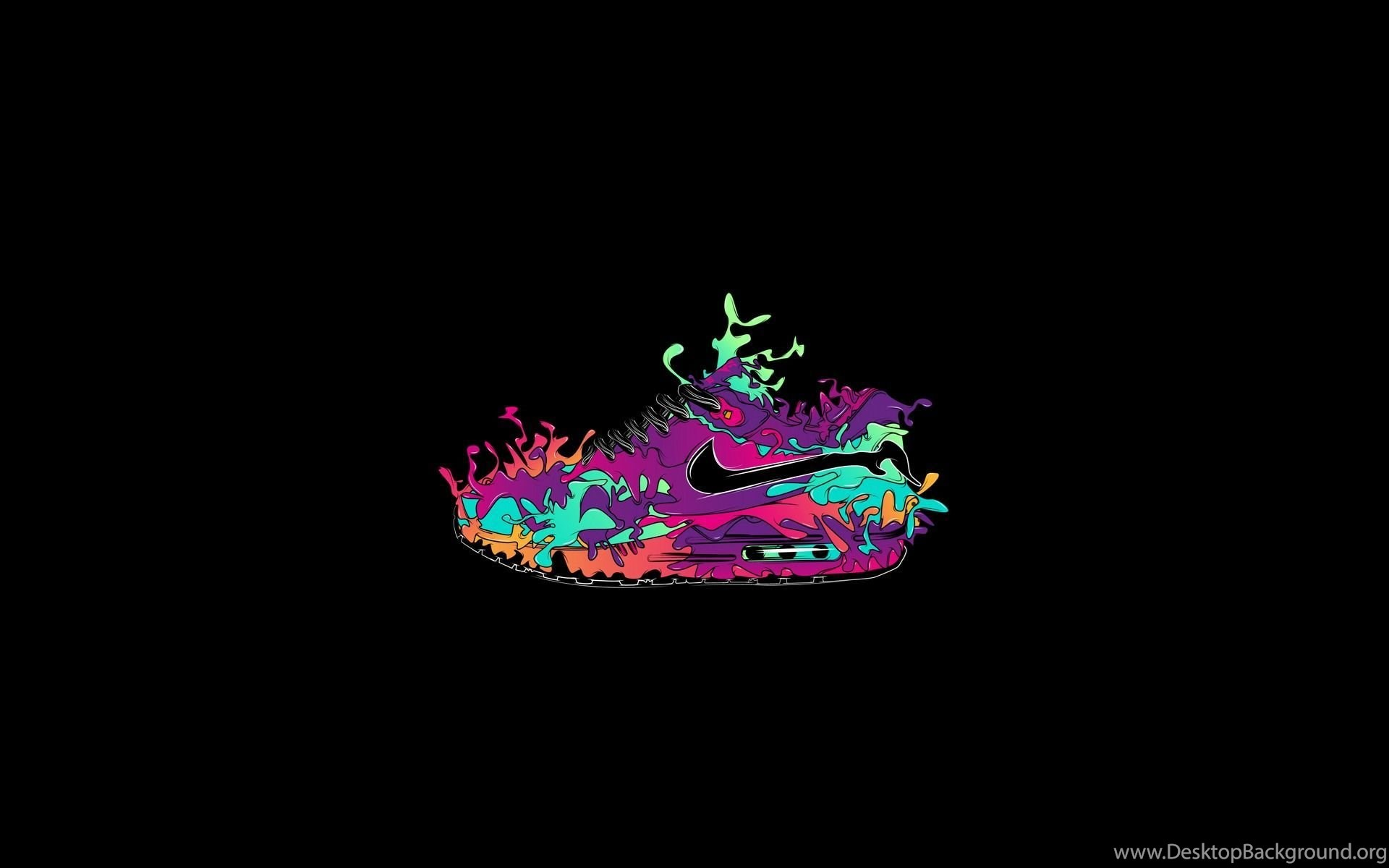 Mininalism Nike Creative Design Wallpapers Hd Poster Shoes