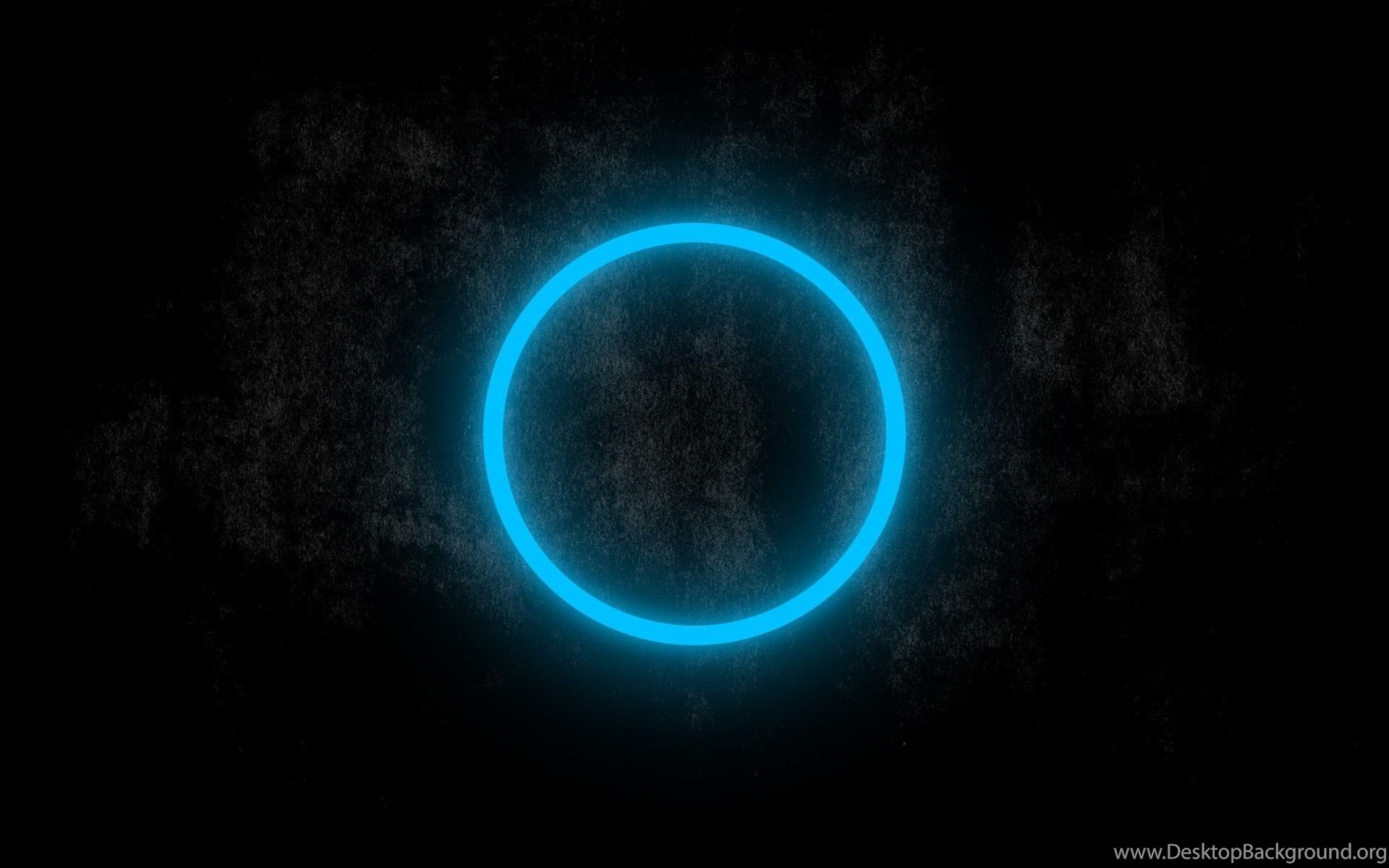 Blue Neon Circle Glowing In The Dark Wallpapers 23834 Desktop