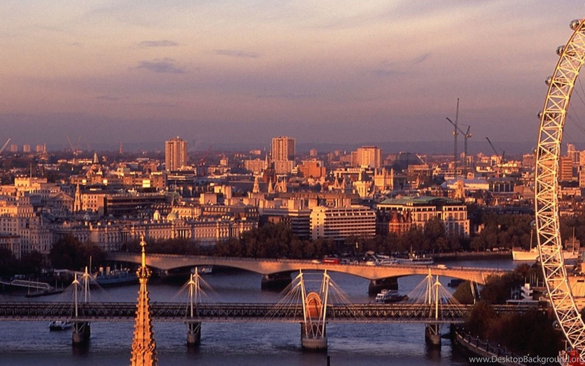 download wallpapers 3840x1200 london, england, river, bridge, big