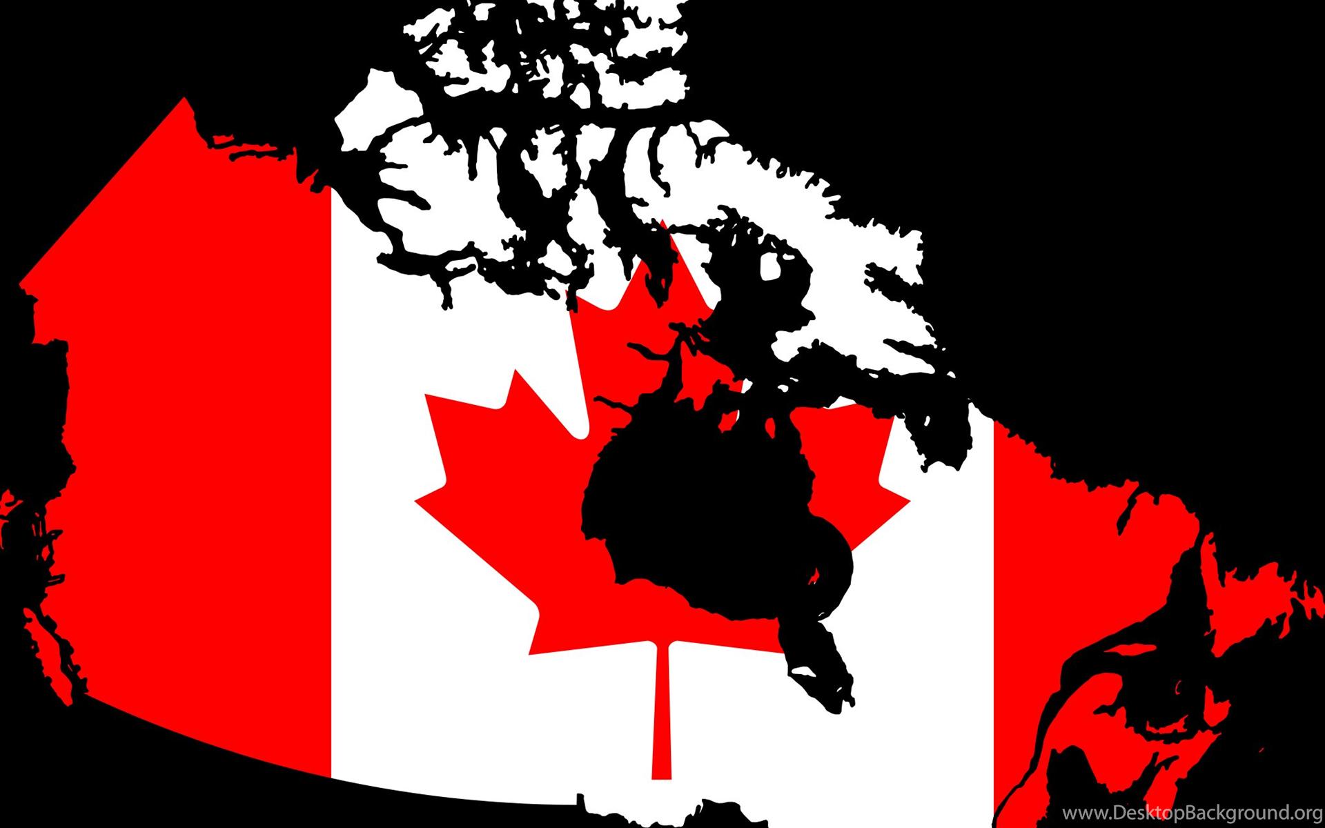Canada Map Flag Wallpapers Desktop Background
