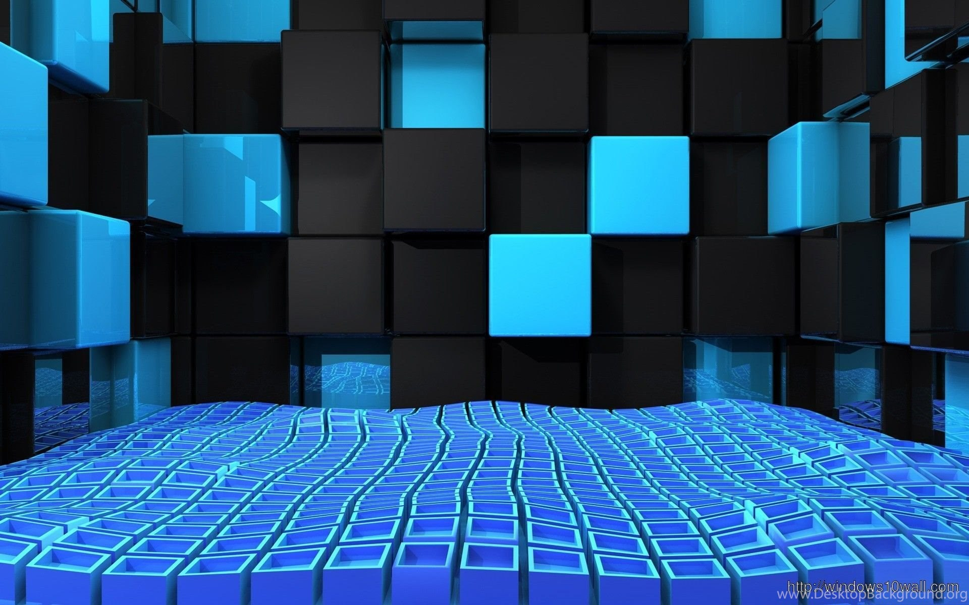 Cool 3D Cubes Twitter Backgrounds Wallpapers