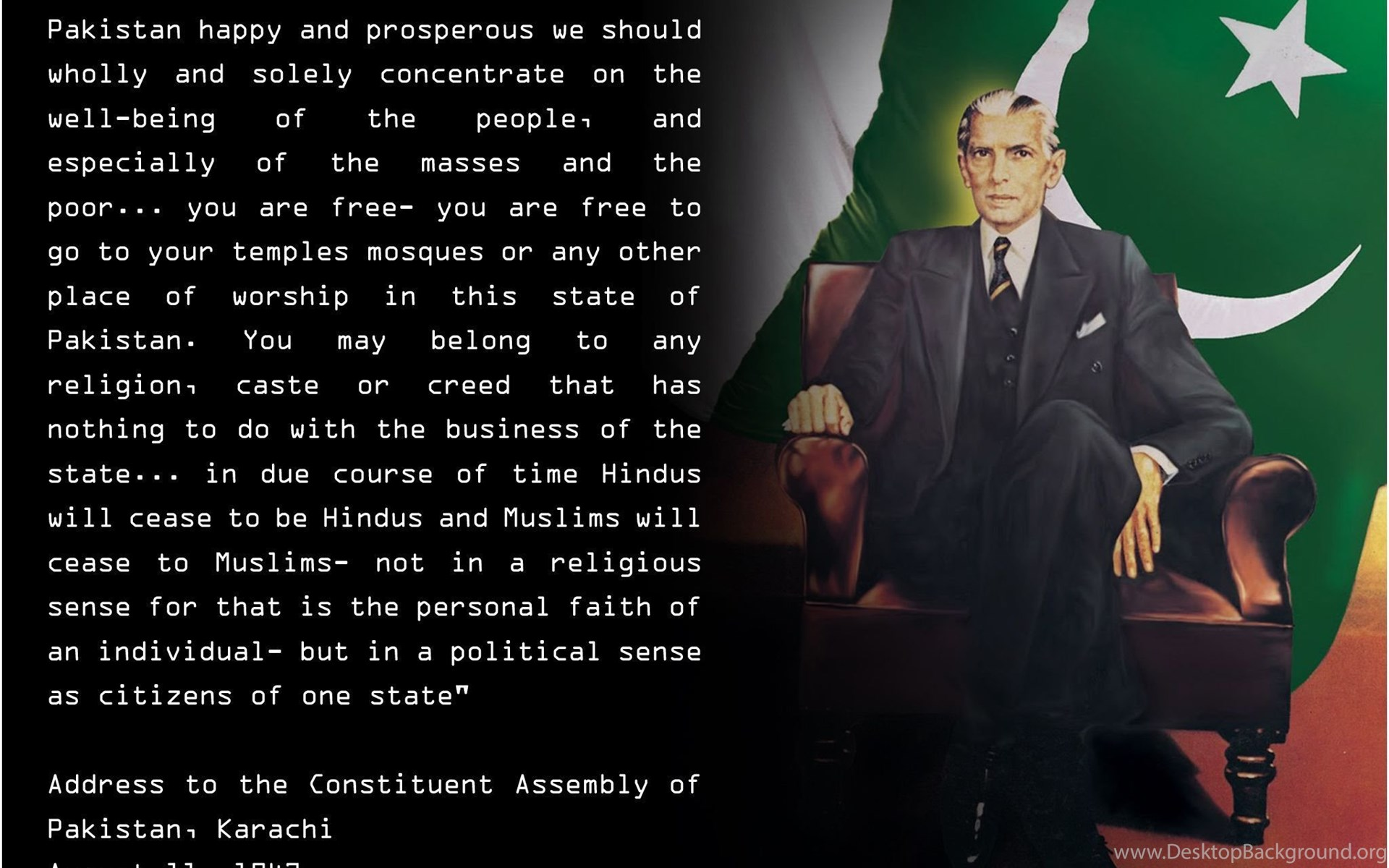 muhammad ali jinnah quotes essay Excerpt of a letter from allama iqbal to muhammad ali jinnah allama iqbal was an eminent politician who guided quaid-e-azam muhammad ali jinnah and was highly respected by him excerpt of a letter from.