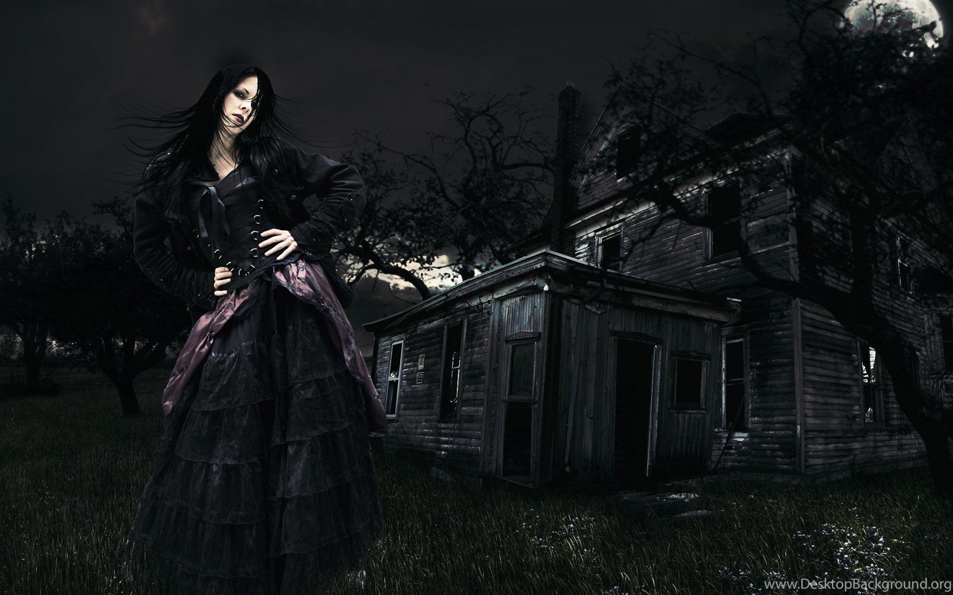 Gothic Girl Wallpapers Backgrounds With Quality HD Desktop Background