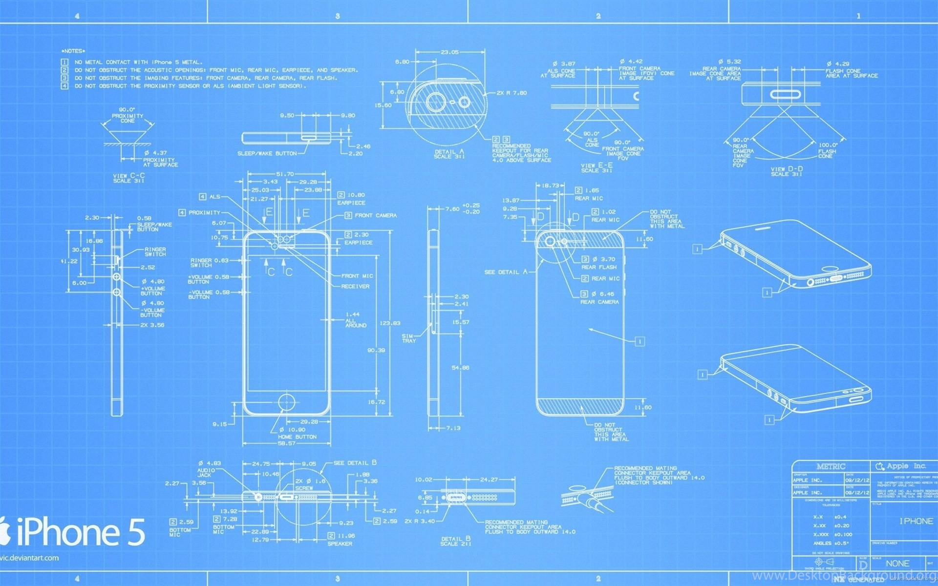 Download 2560x1440 Apple Iphone 5 Blueprint Wallpapers Desktop Background